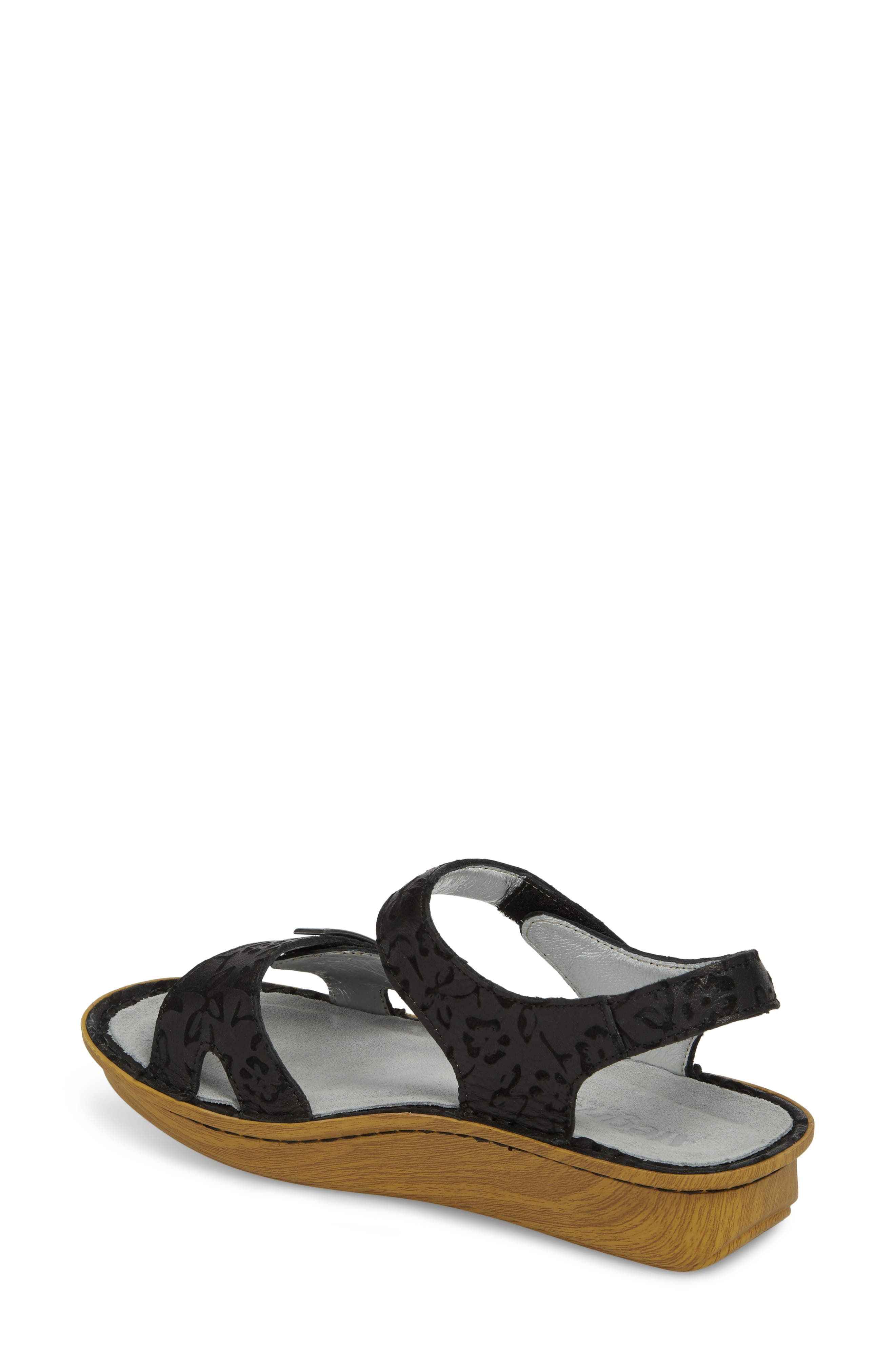 ALEGRIA, Vienna Sandal, Alternate thumbnail 2, color, MORNING GLORY BLACK LEATHER