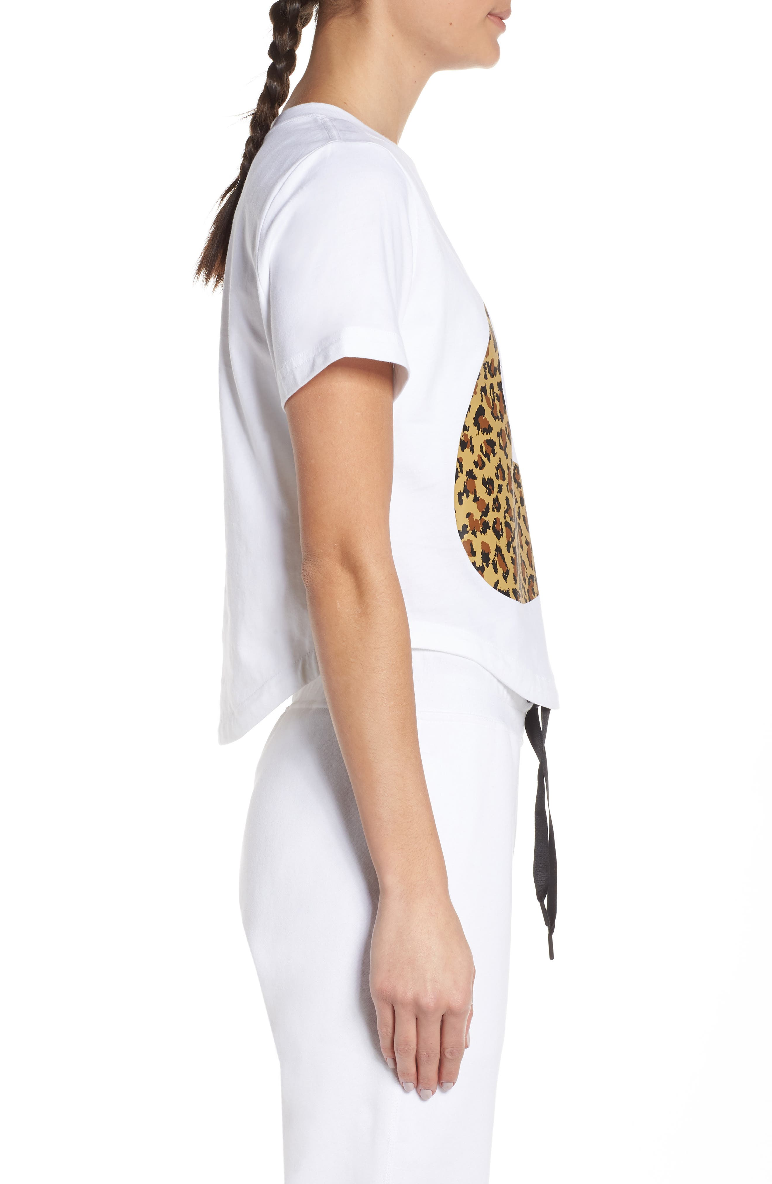 NIKE, Sportswear Women's Crop Top, Alternate thumbnail 4, color, WHITE