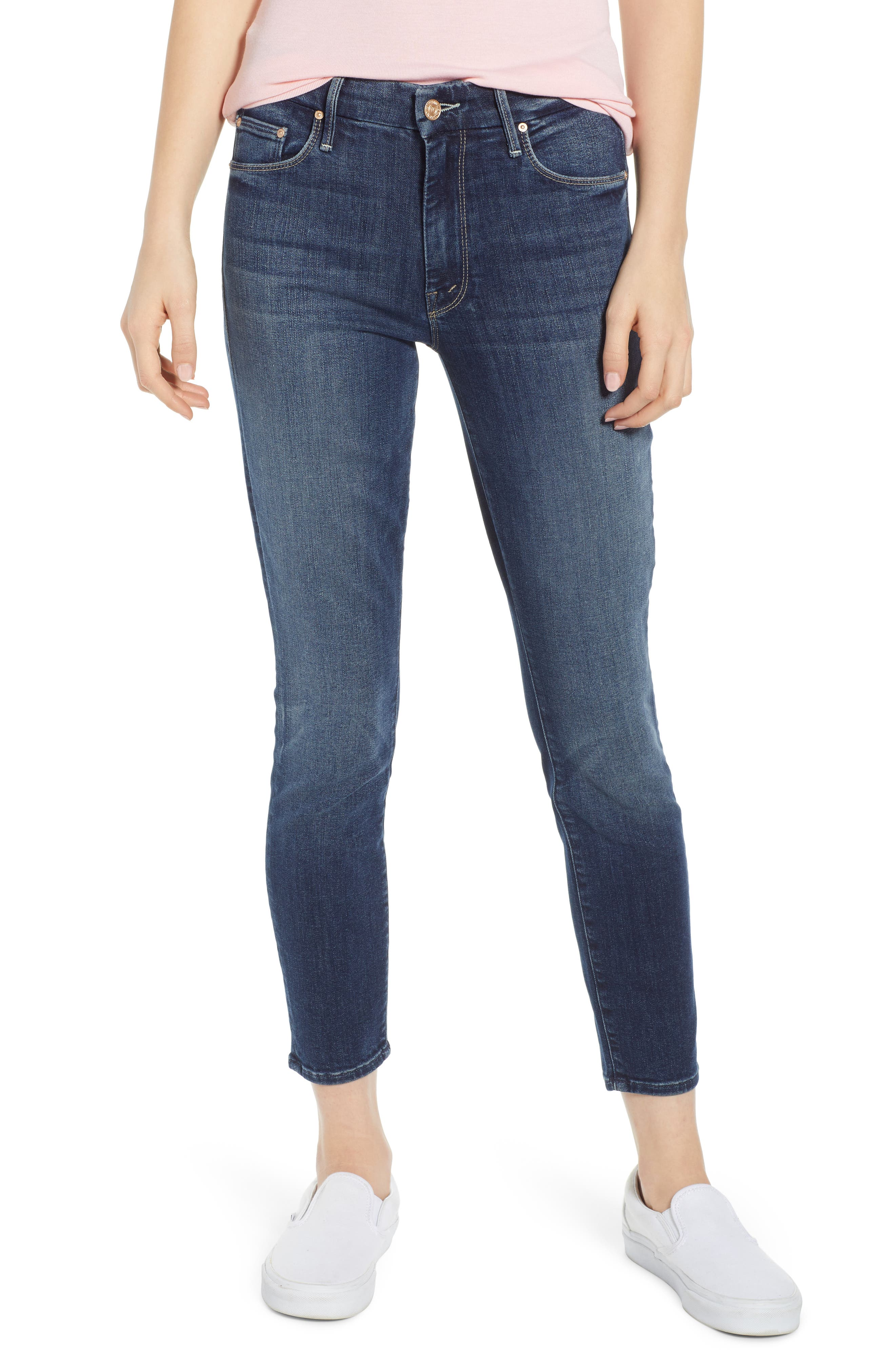 MOTHER 'The Looker' Crop Skinny Jeans, Main, color, ON THE EDGE