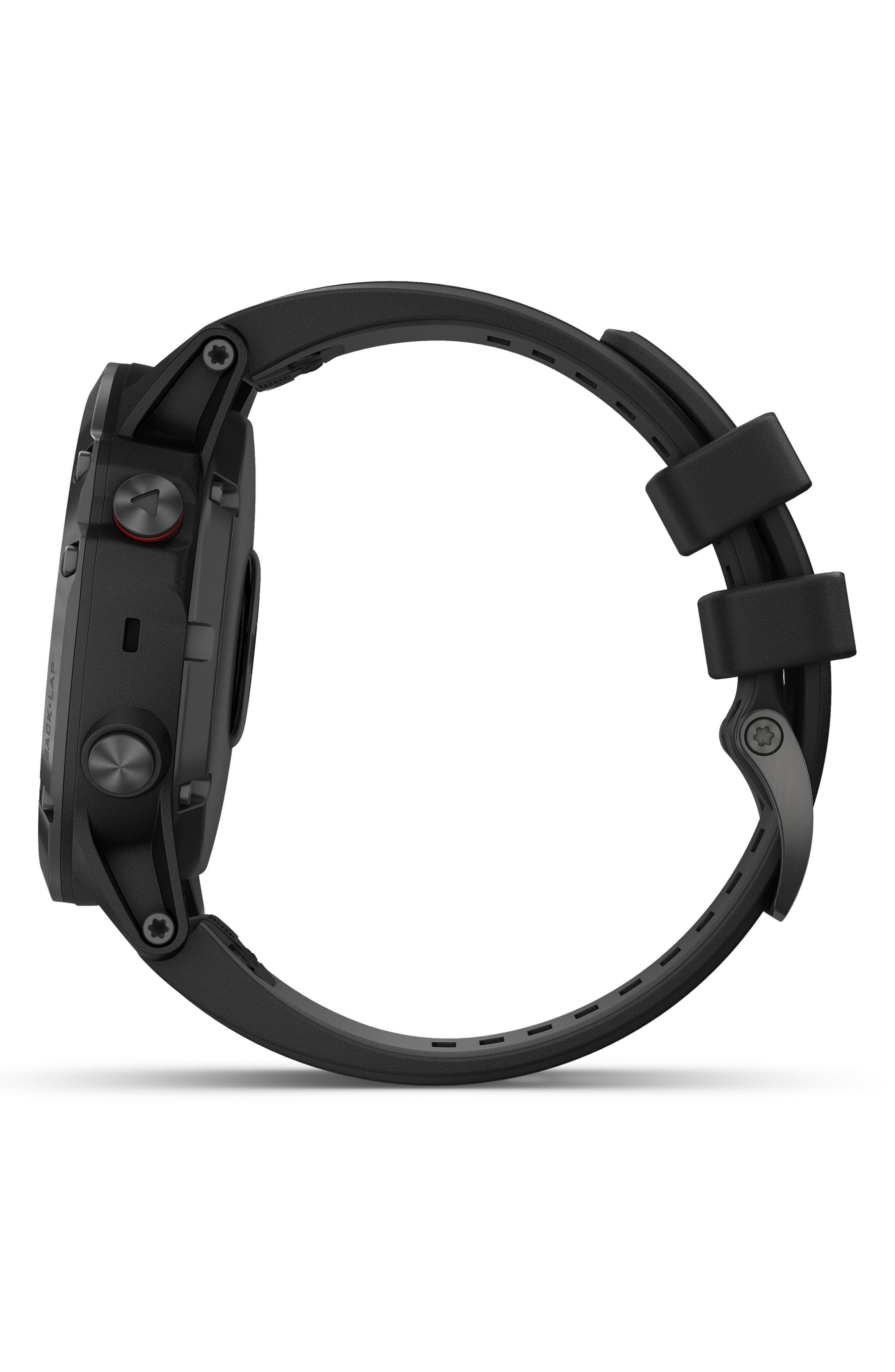 GARMIN, fenix<sup>®</sup> 5S Sapphire Premium Multisport GPS Watch, 51mm, Alternate thumbnail 5, color, BLACK