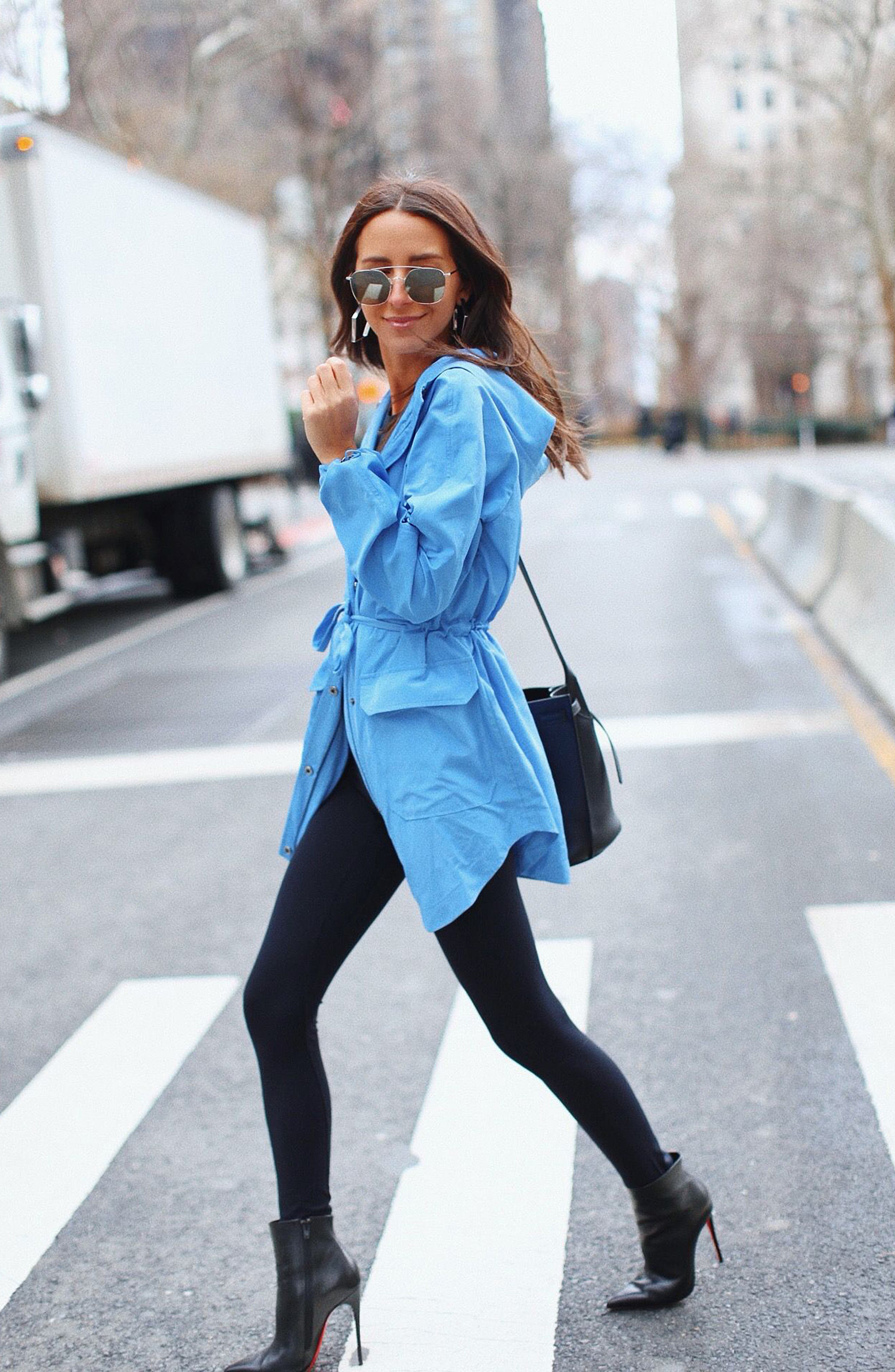 SOMETHING NAVY, Belted Parka, Alternate thumbnail 2, color, PERI