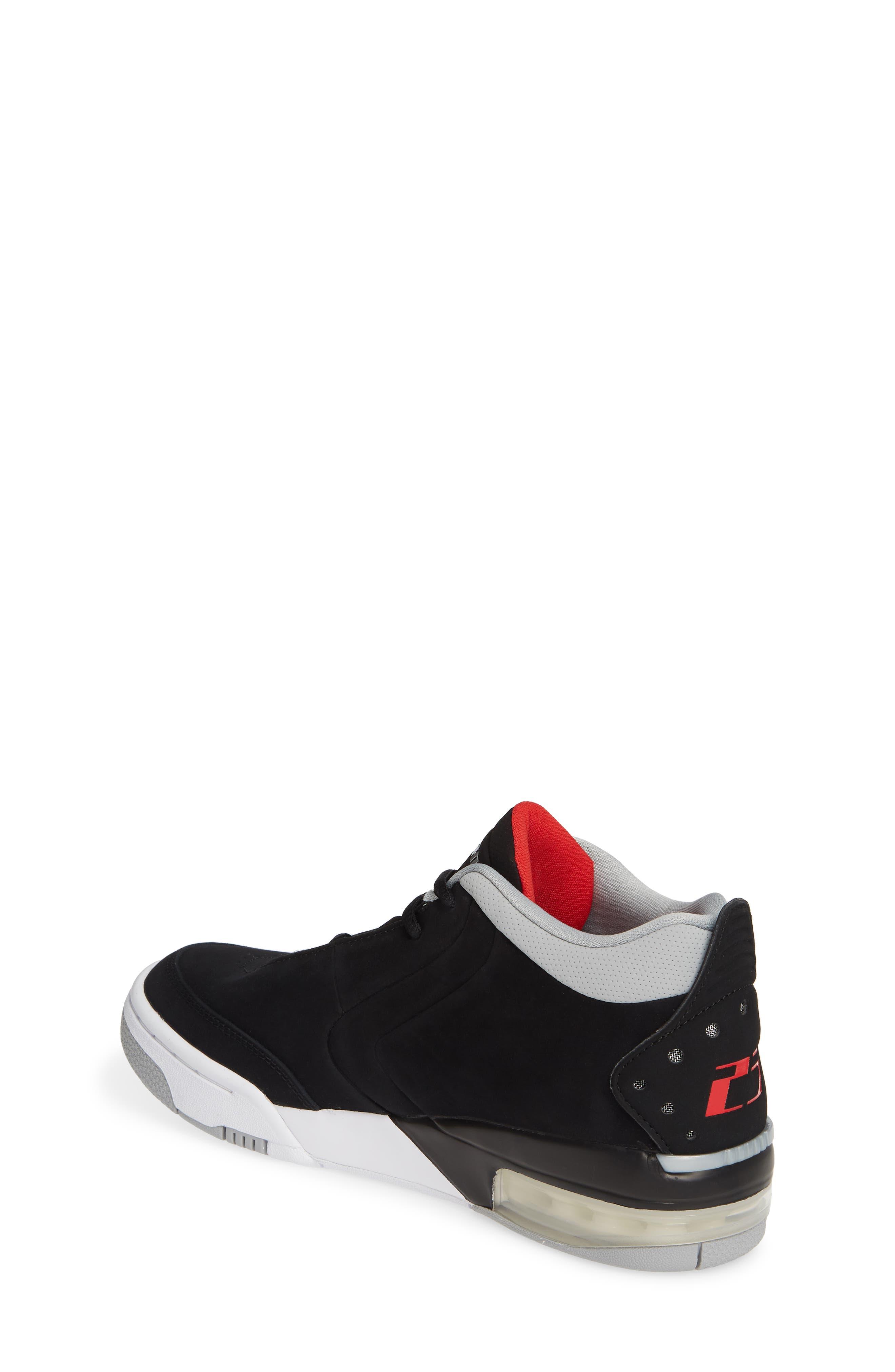 JORDAN, Big Fund Mid Top Basketball Sneaker, Alternate thumbnail 2, color, BLACK/ METALLIC SILVER-WHITE