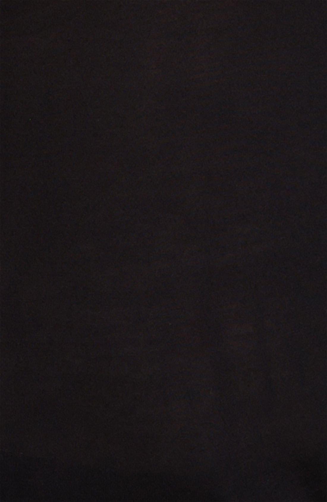 TROUVÉ, Perforated Leather Detail Top, Alternate thumbnail 2, color, 001