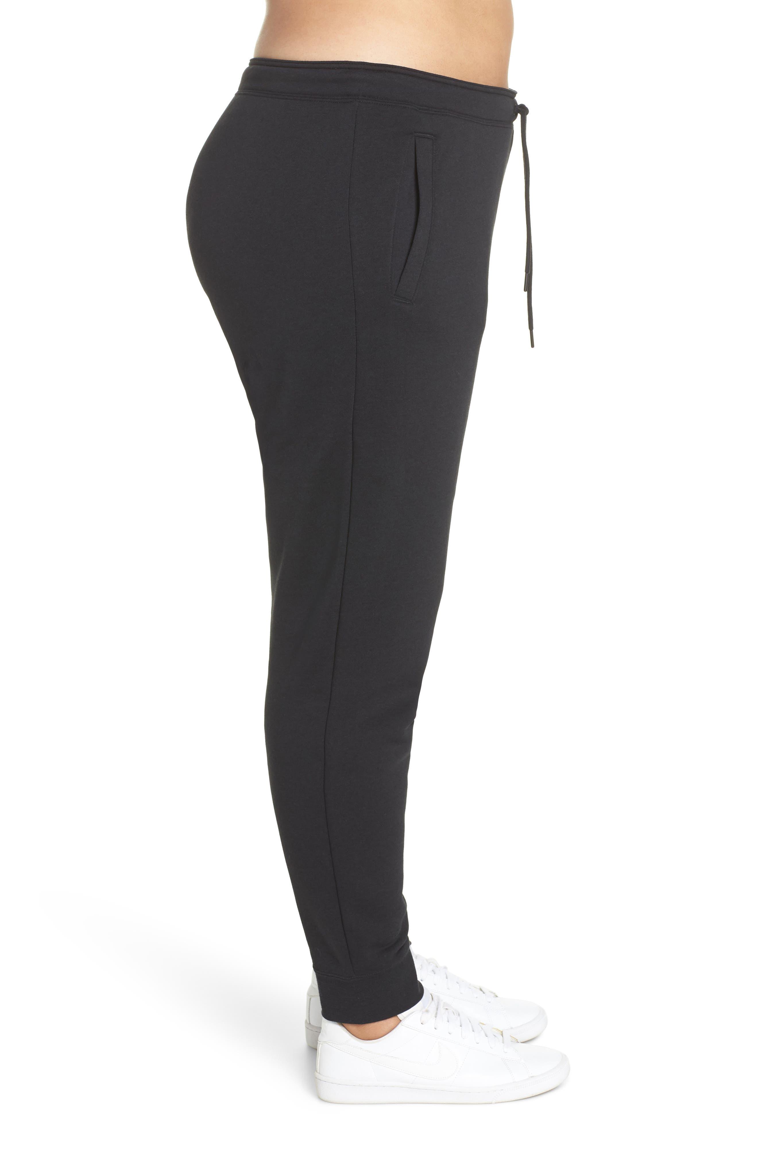 NIKE, Sportswear Rally High Rise Jogger Pants, Alternate thumbnail 4, color, BLACK/ BLACK/ WHITE