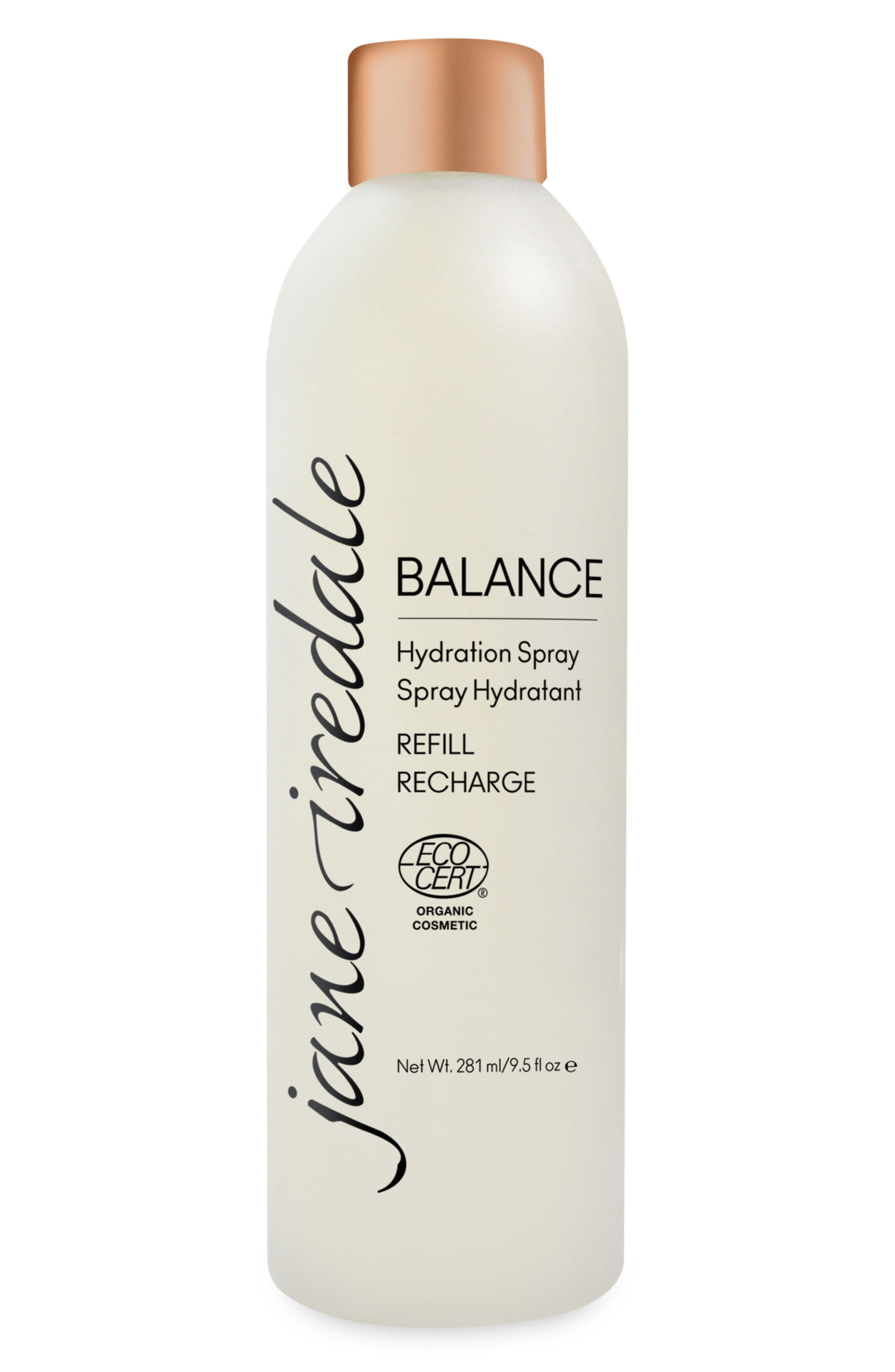 JANE IREDALE Balance Hydration Spray Refill, Main, color, BROWN