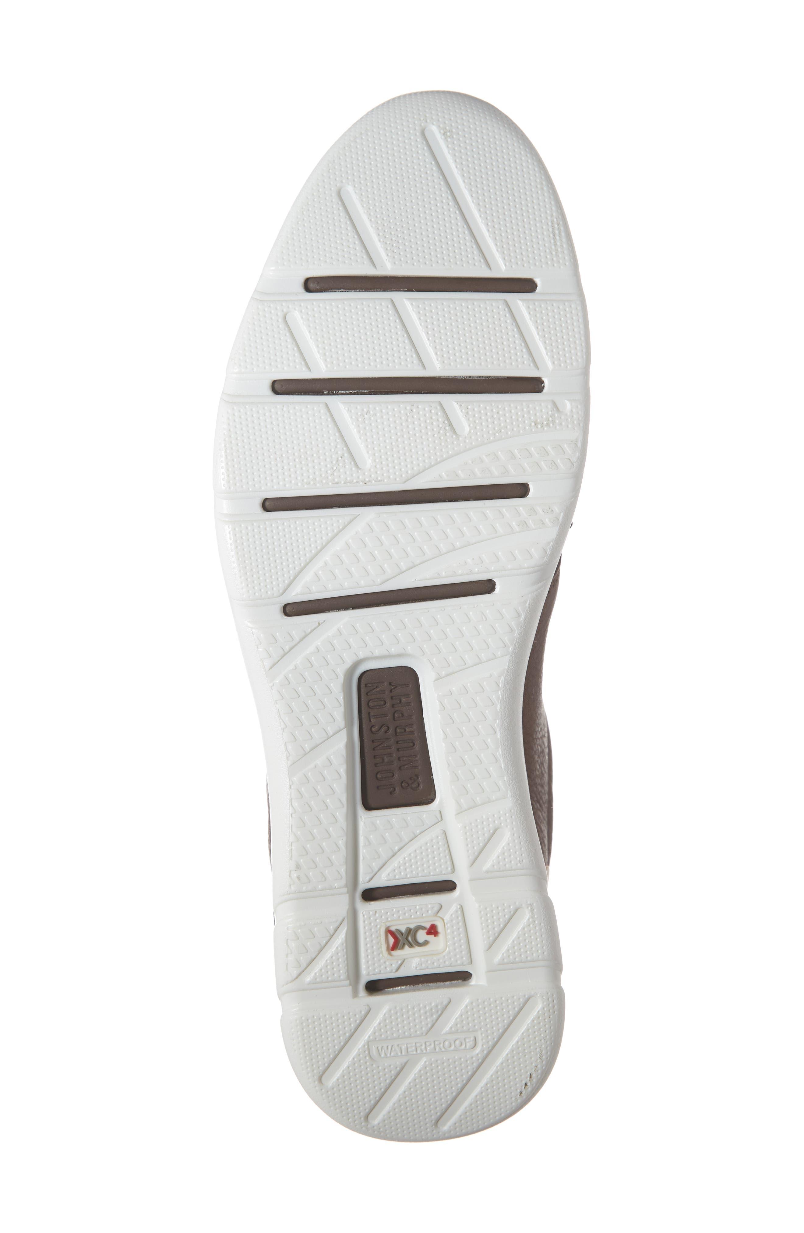 JOHNSTON & MURPHY, Prentiss XC4<sup>®</sup> Waterproof Low Top Sneaker, Alternate thumbnail 6, color, MAHOGANY LEATHER