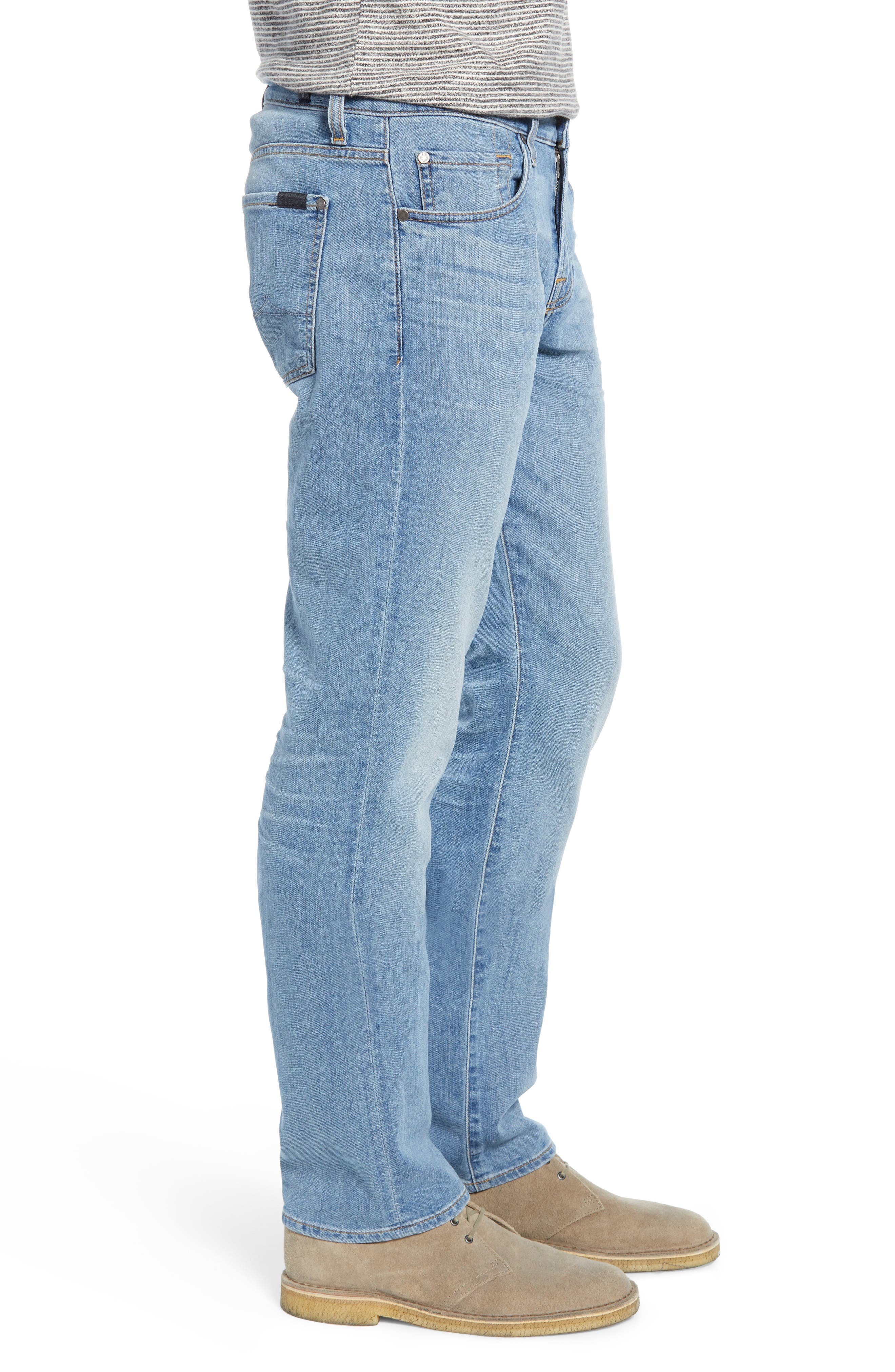 7 FOR ALL MANKIND<SUP>®</SUP>, Slim Straight Leg Jeans, Alternate thumbnail 3, color, INTREPID