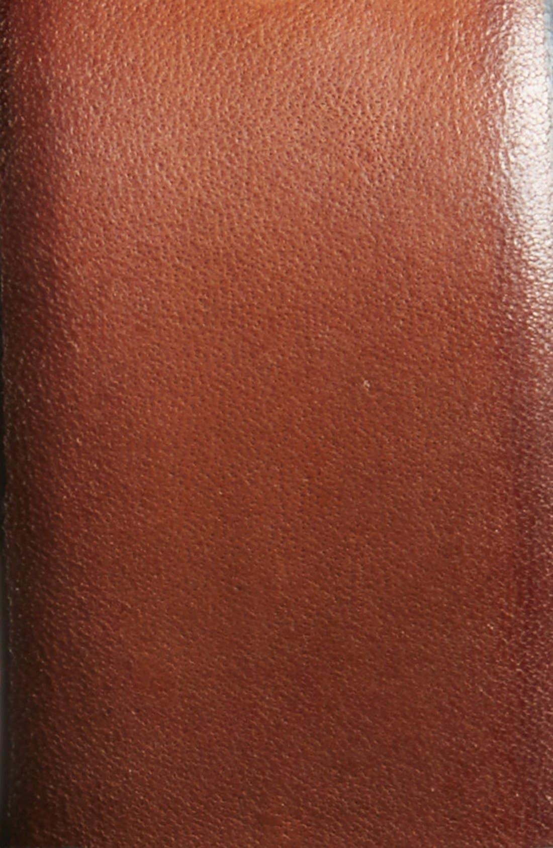 COLE HAAN, Leather Belt, Alternate thumbnail 2, color, BRITISH TAN
