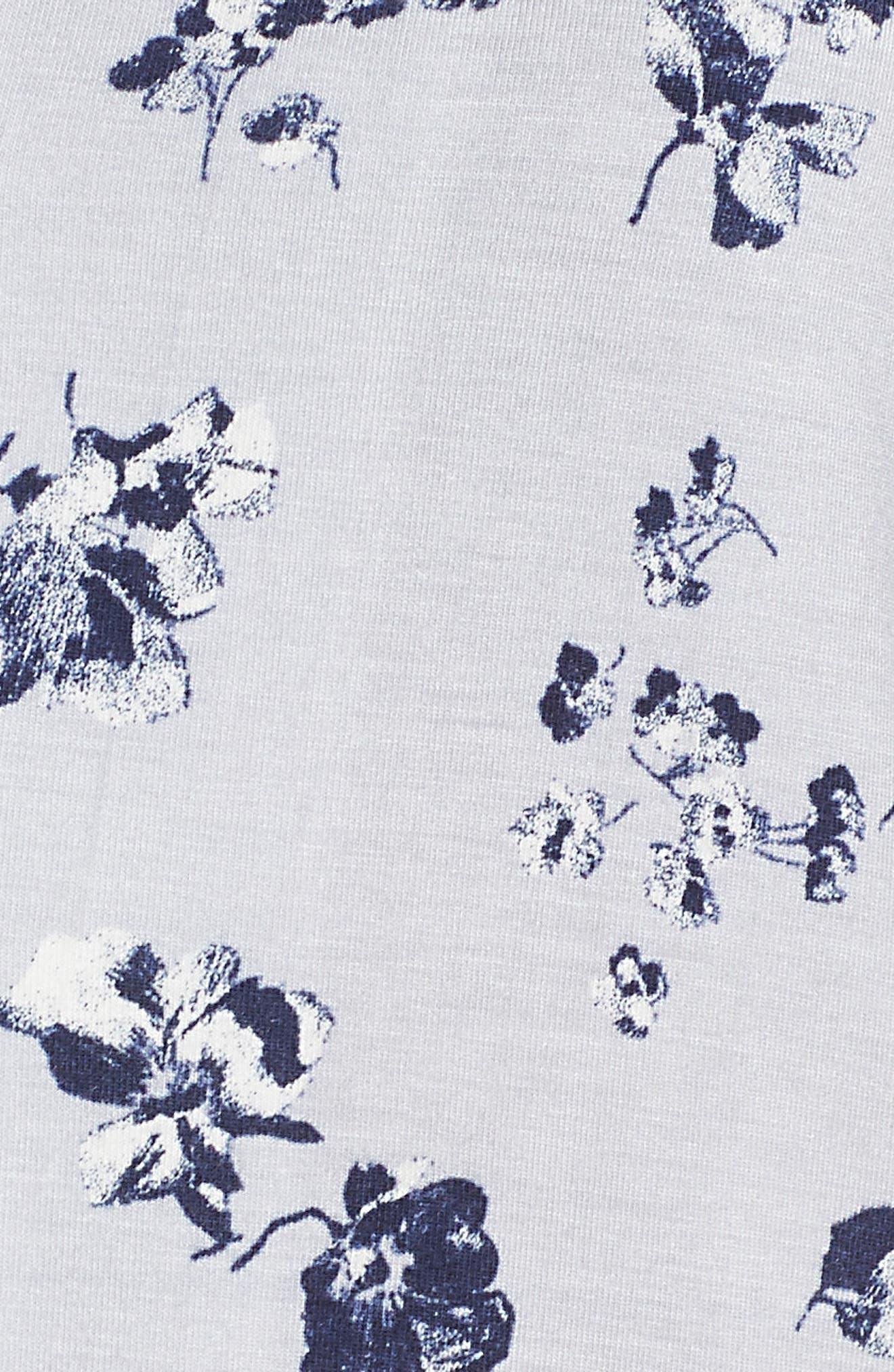 NORDSTROM LINGERIE, Moonlight Short Pajamas, Alternate thumbnail 5, color, GREY MICRO BLOOM
