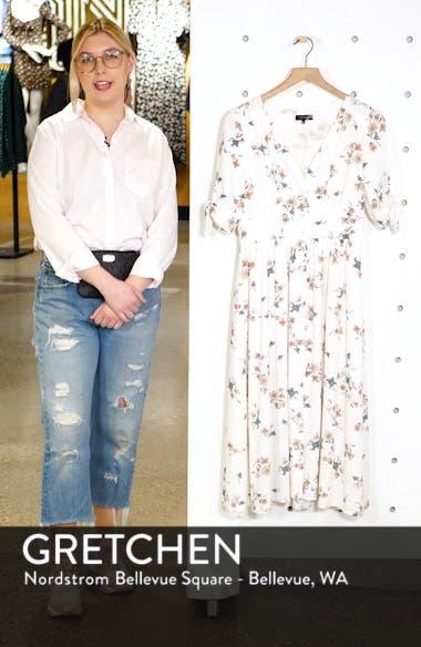 Floral Belle Tie Sleeve Midi Dress, sales video thumbnail