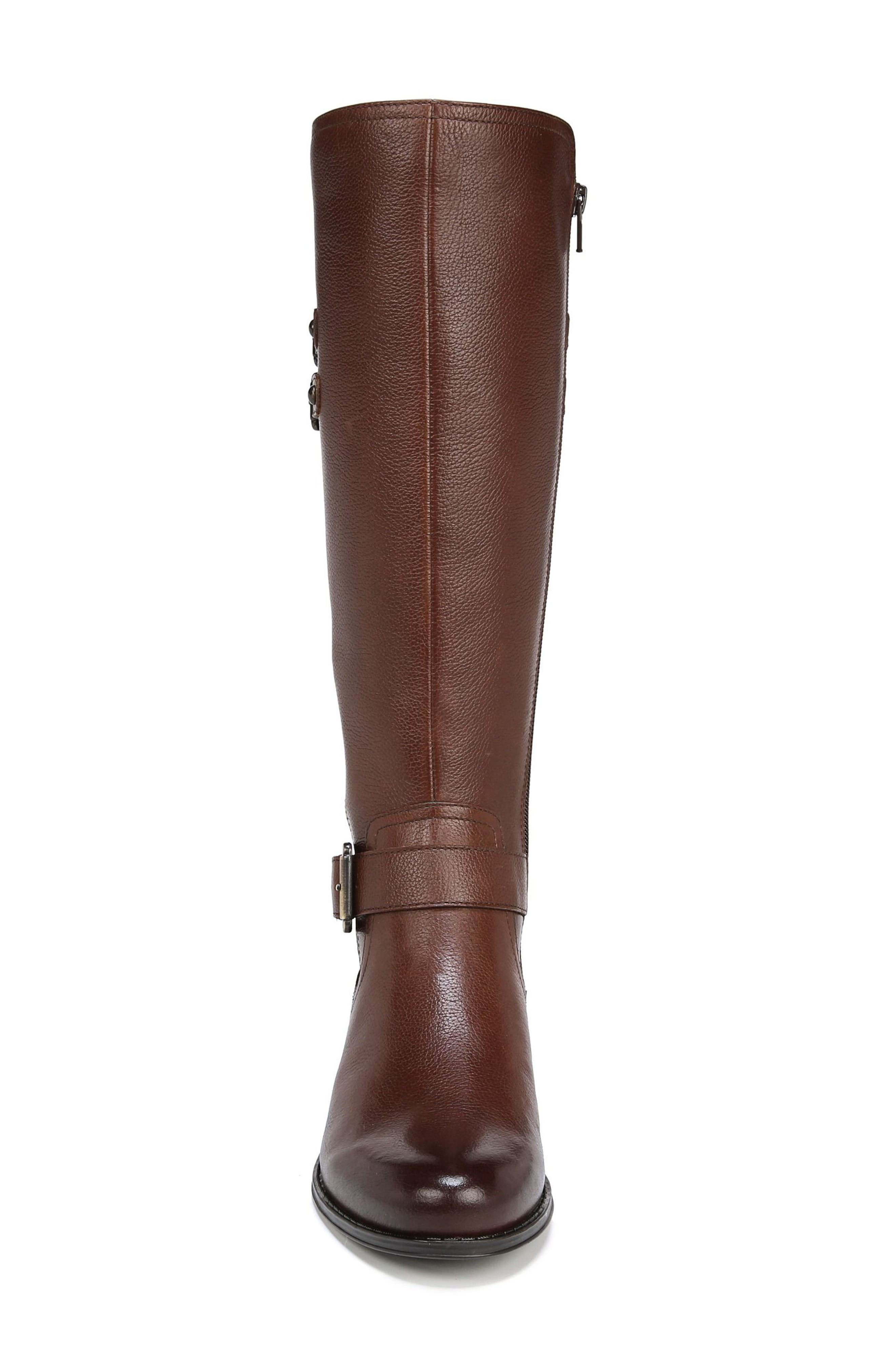 NATURALIZER, Jessie Knee High Riding Boot, Alternate thumbnail 4, color, CHOCOLATE LEATHER
