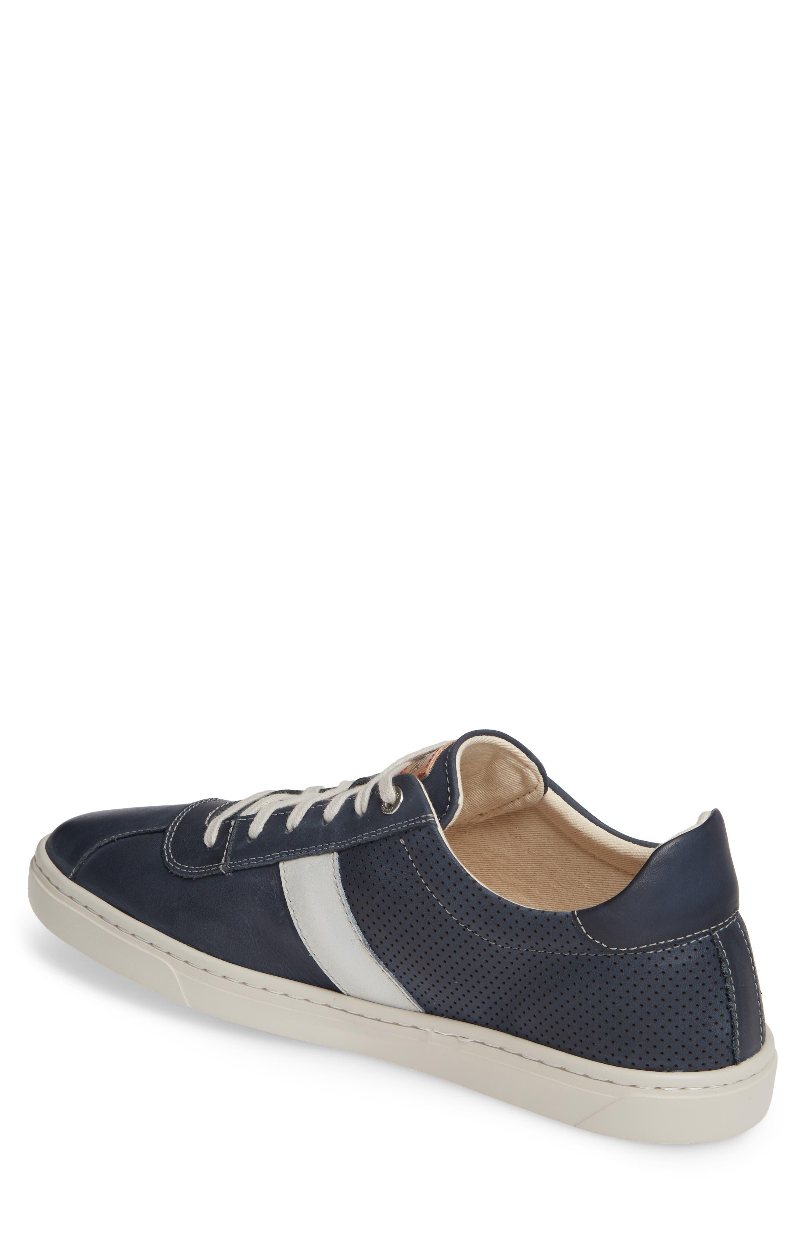 PIKOLINOS, Belfort Perforated Sneaker, Alternate thumbnail 2, color, BLUE