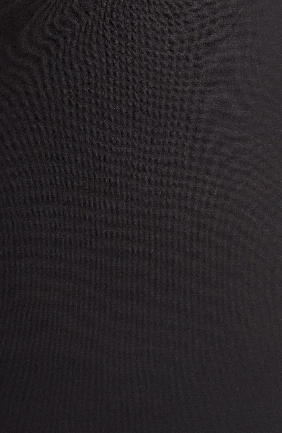 NATORI, 'Zen Floral' Nightgown, Alternate thumbnail 5, color, BLACK