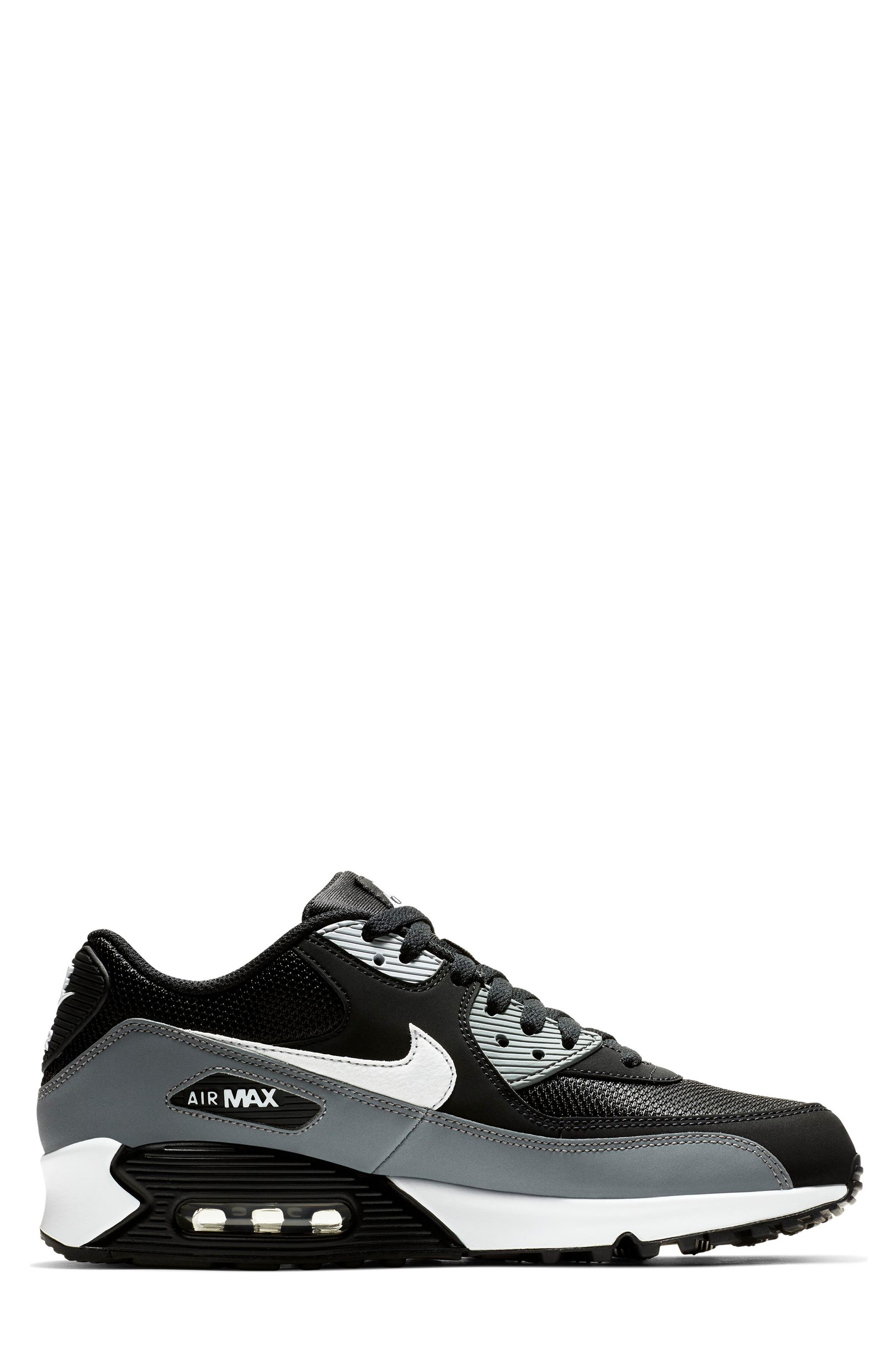 NIKE, Air Max 90 Essential Sneaker, Alternate thumbnail 2, color, BLACK/ WHITE/ COOL GREY