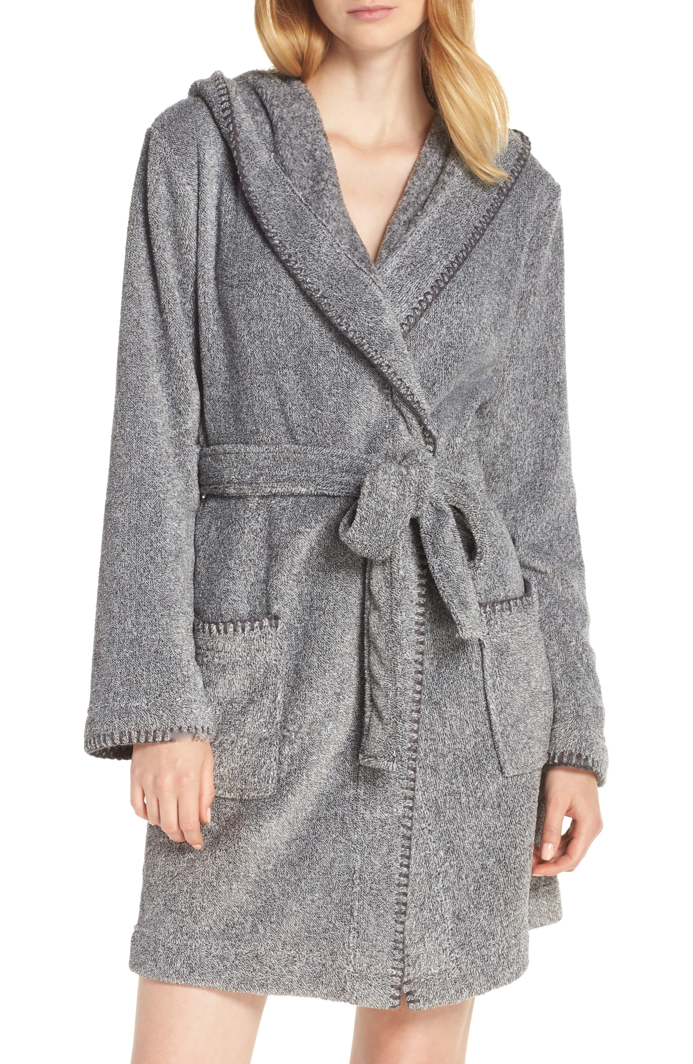 MAKE + MODEL, Starry Night Plush Short Robe, Main thumbnail 1, color, 022