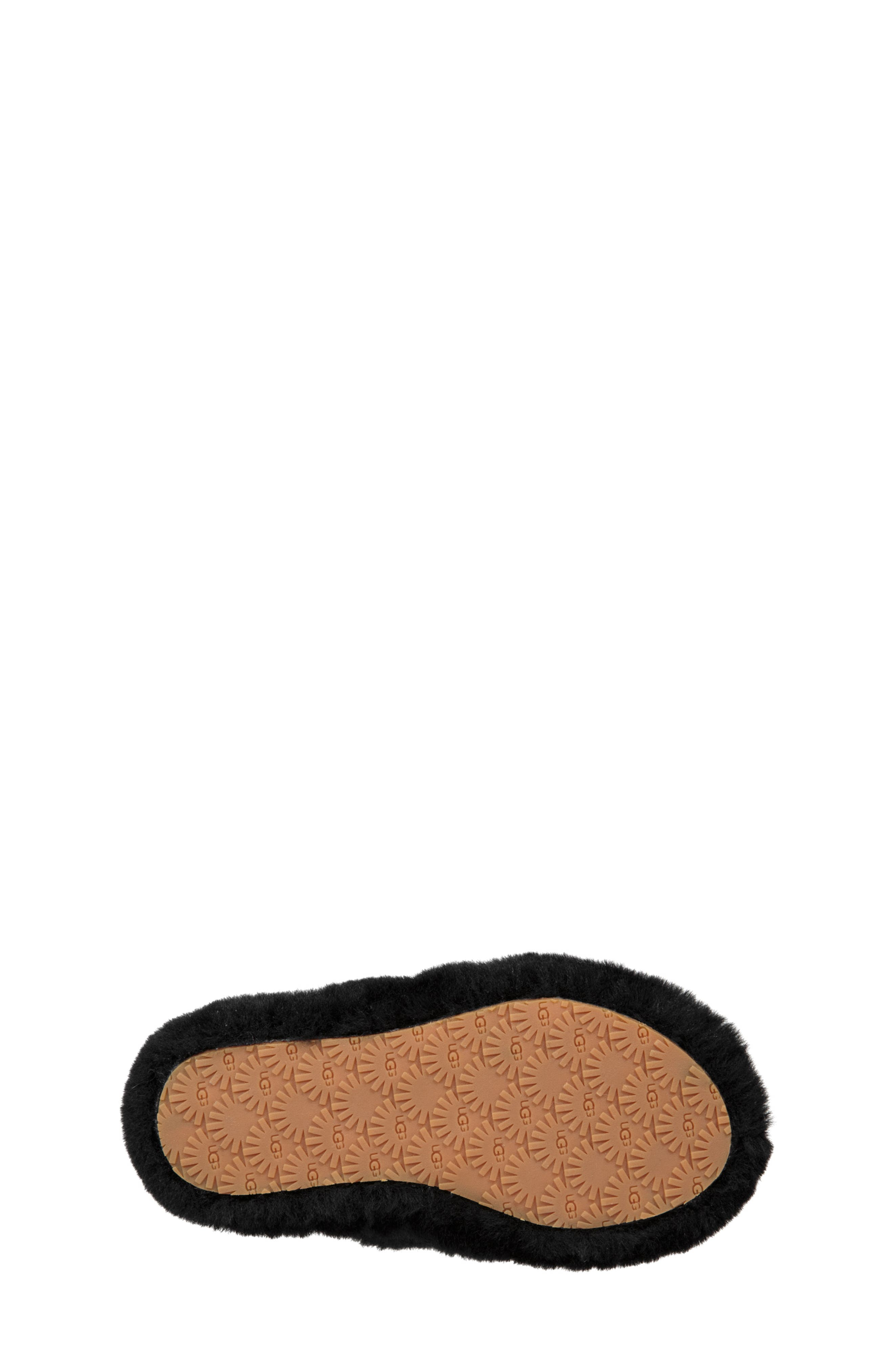 UGG<SUP>®</SUP>, Fluff Yeah Genuine Shearling Slide Sandal, Alternate thumbnail 5, color, BLACK