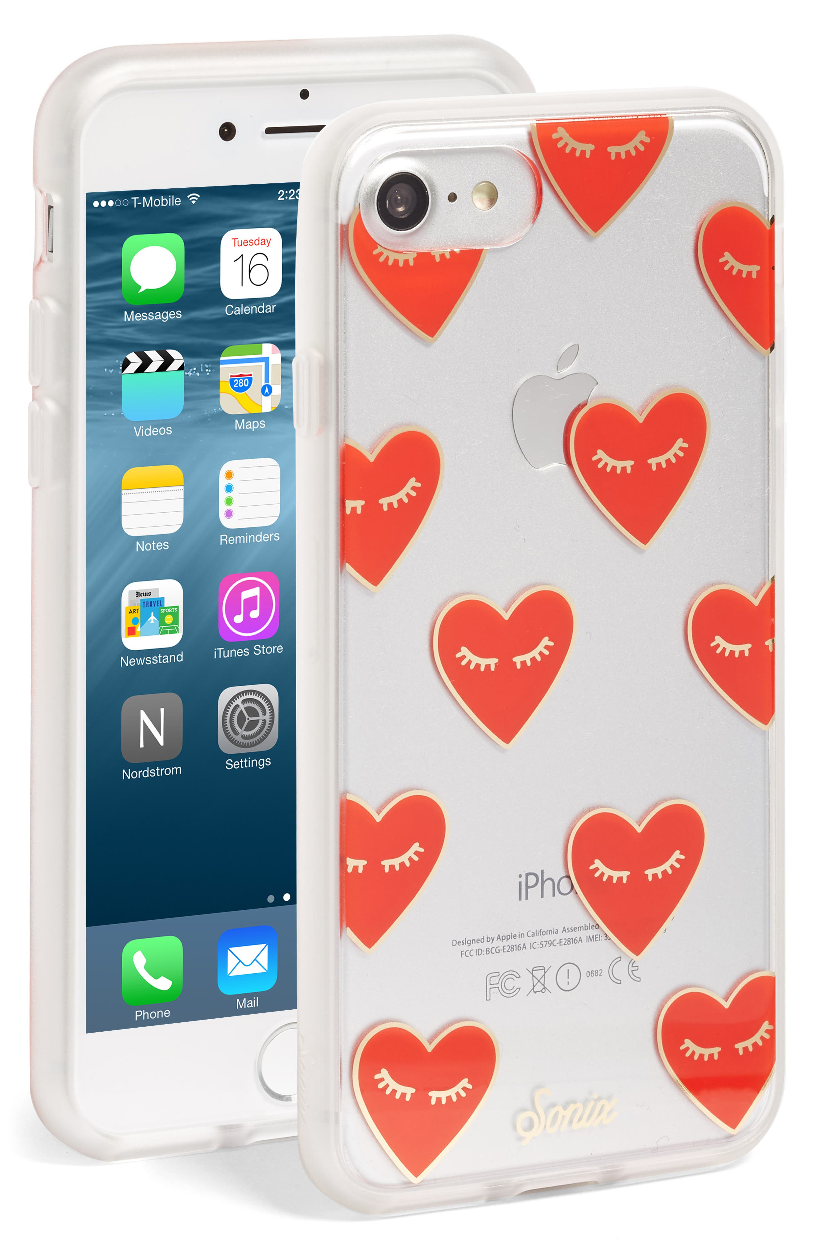 SONIX, Fancy Heart iPhone 7/8 & 7/8 Plus Case, Main thumbnail 1, color, 600