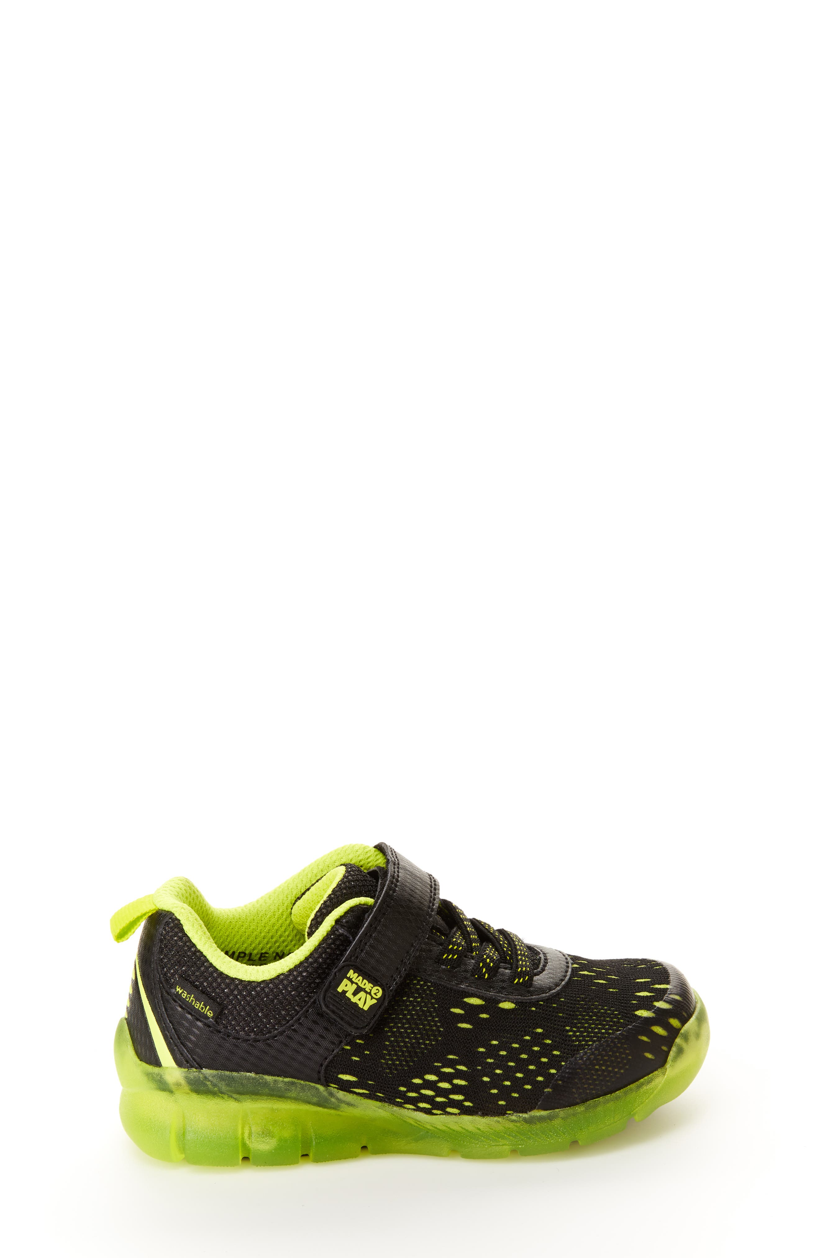STRIDE RITE, Made2Play<sup>®</sup> Neo Light-Up Sneaker, Alternate thumbnail 7, color, 002
