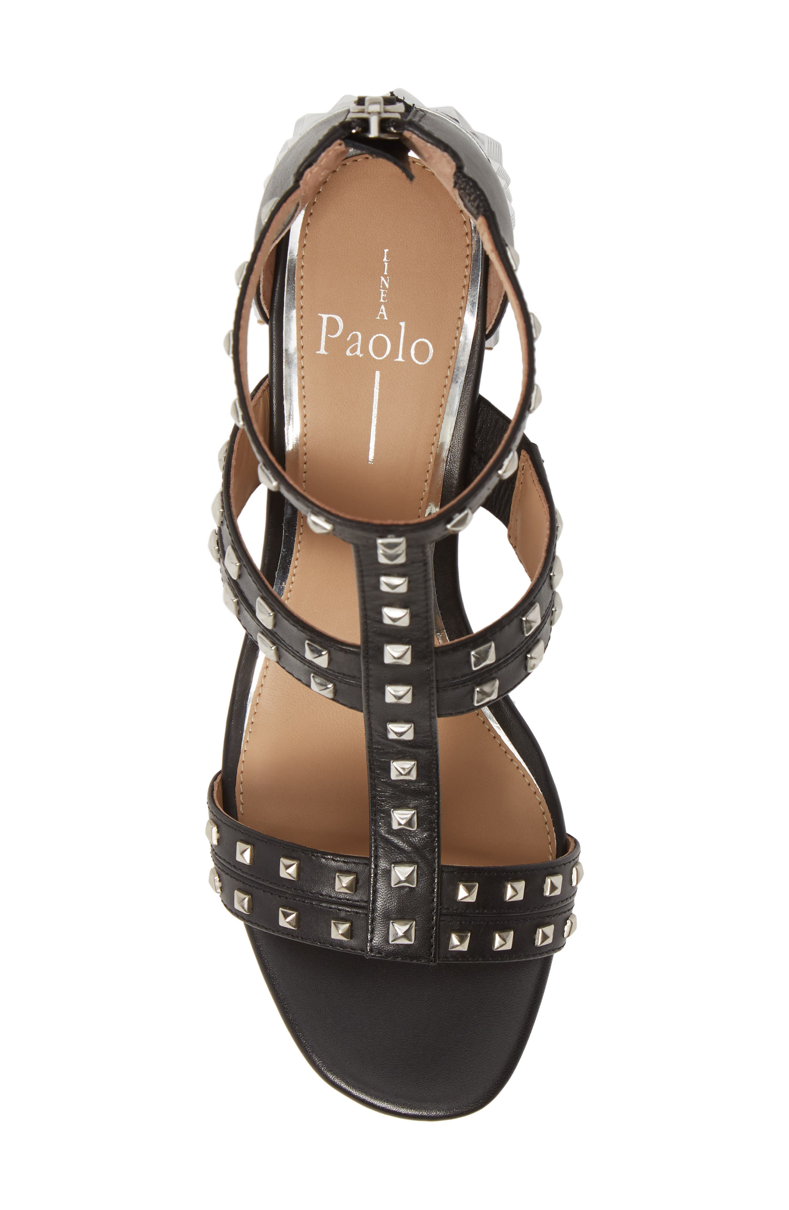 LINEA PAOLO, Harley Sandal, Alternate thumbnail 5, color, BLACK LEATHER
