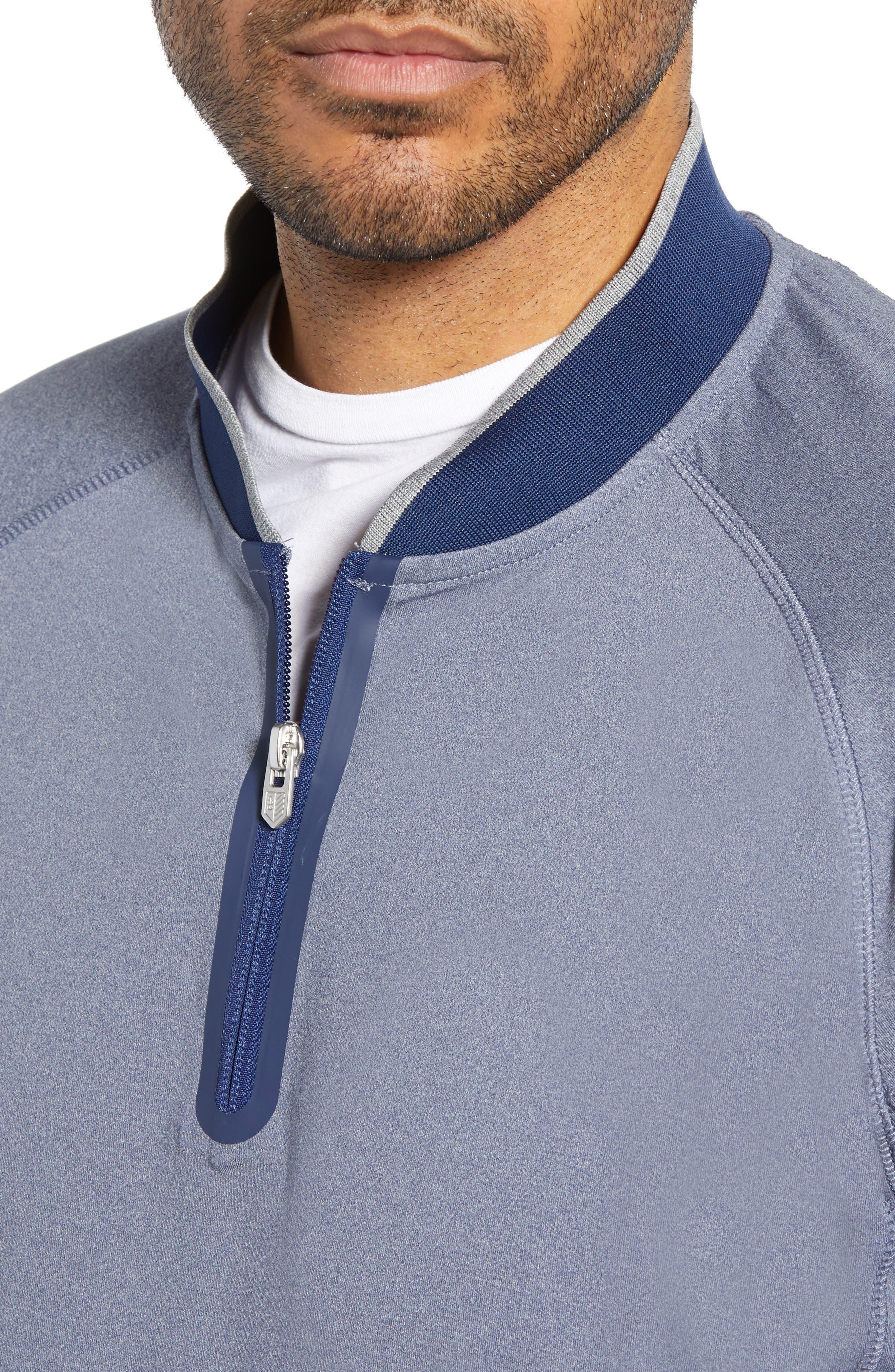 BOBBY JONES, Rule 18 Quarter Zip Tech Pullover, Alternate thumbnail 5, color, NAVY