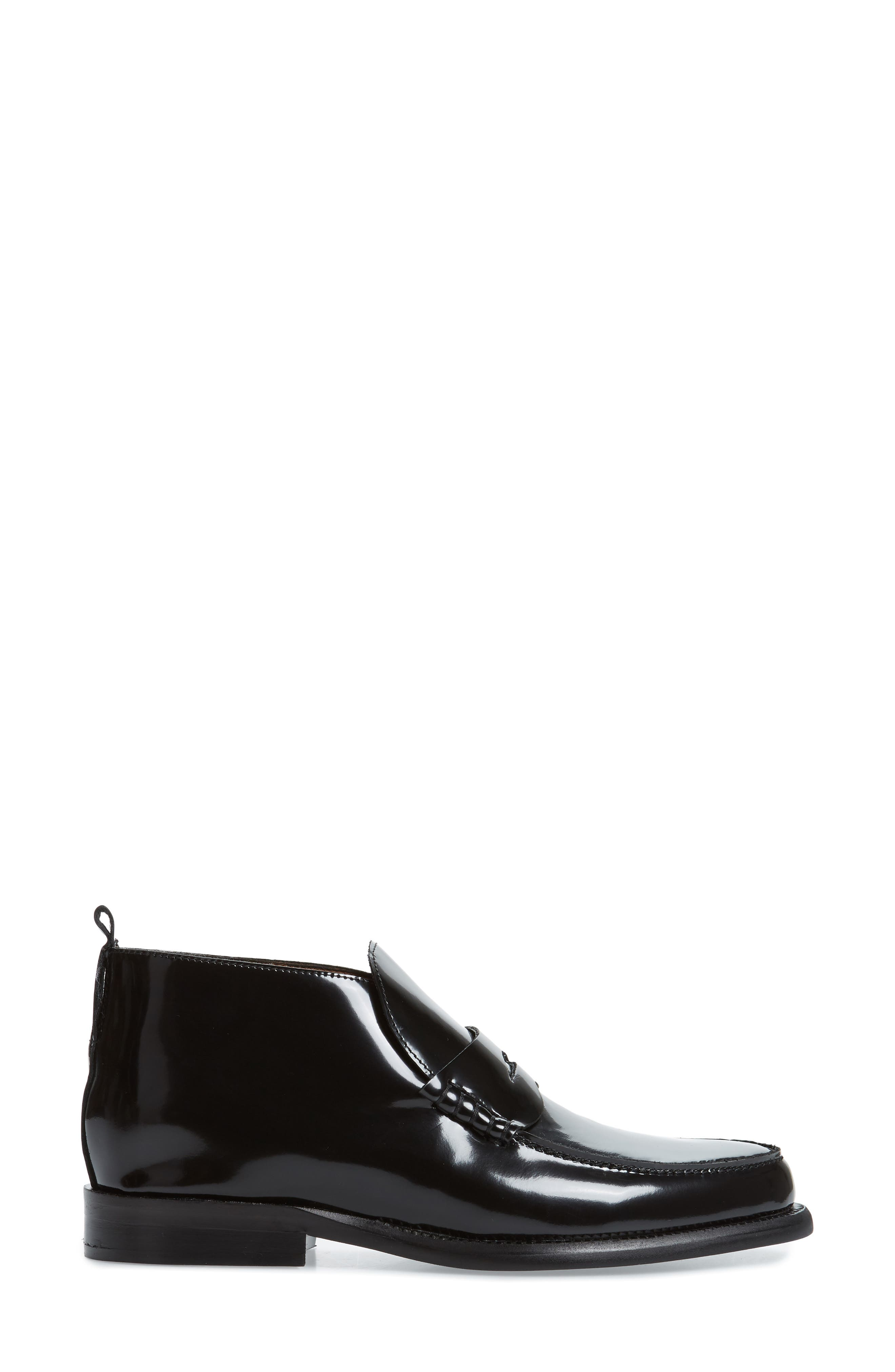 JEFFREY CAMPBELL, Marquis Loafer, Alternate thumbnail 3, color, BLACK LEATHER
