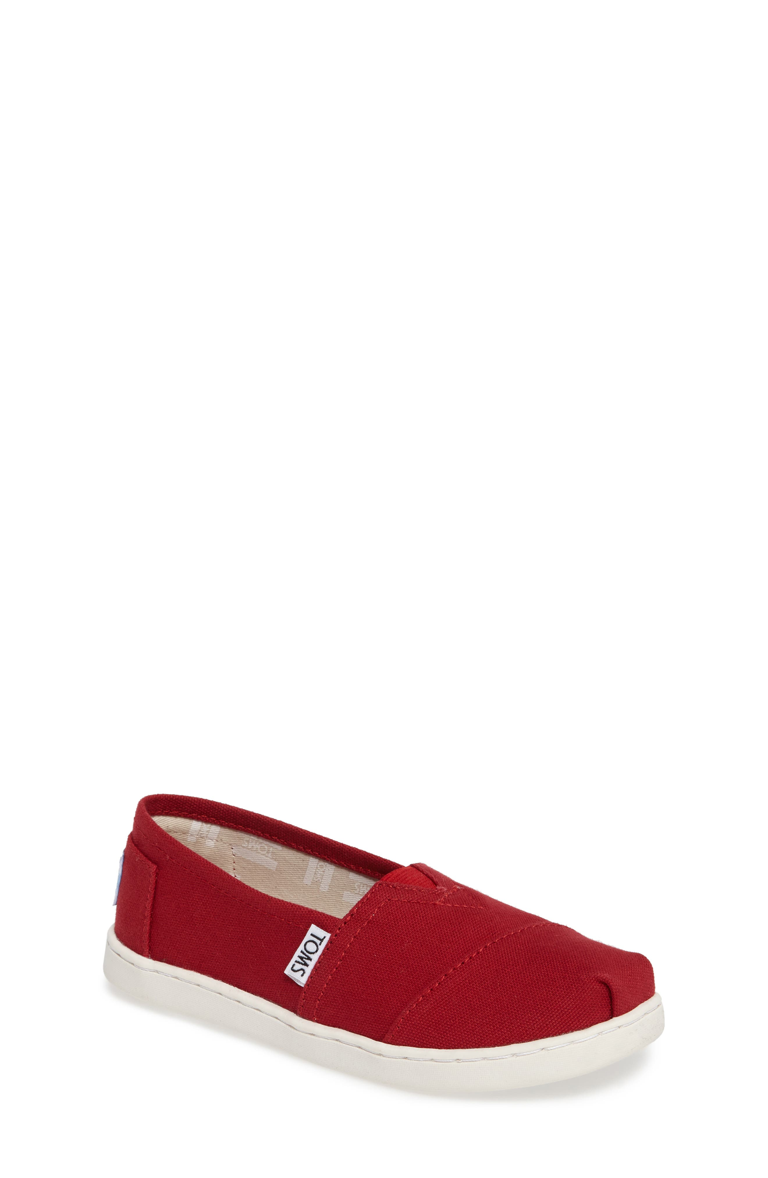 38f29eacc77 Kid s Toms 2.0 Classic Alpargata Slip-On- Red