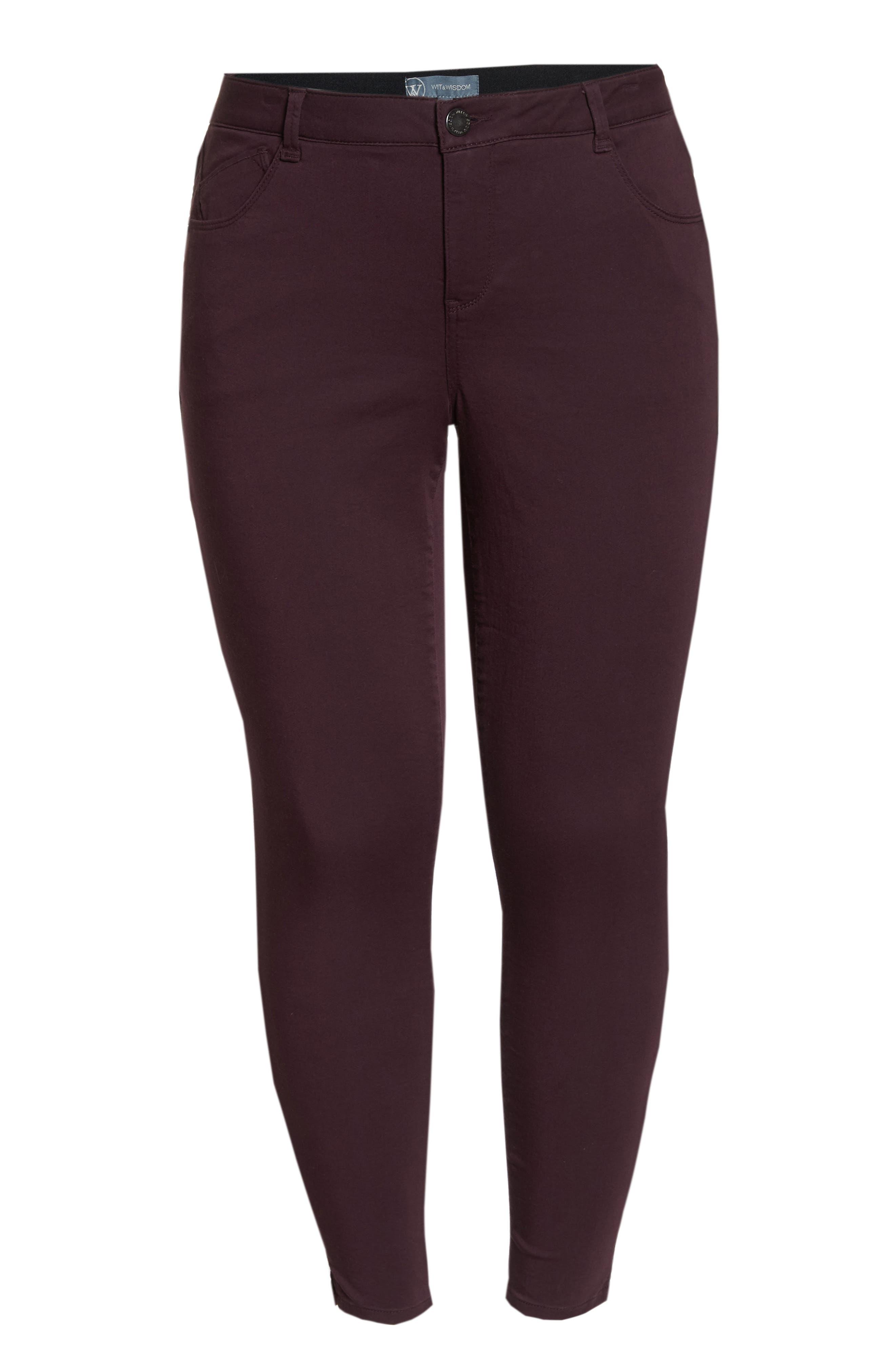 WIT & WISDOM, Ab-Solution Ankle Skimmer Jeans, Alternate thumbnail 7, color, DARK BYZANTIUM