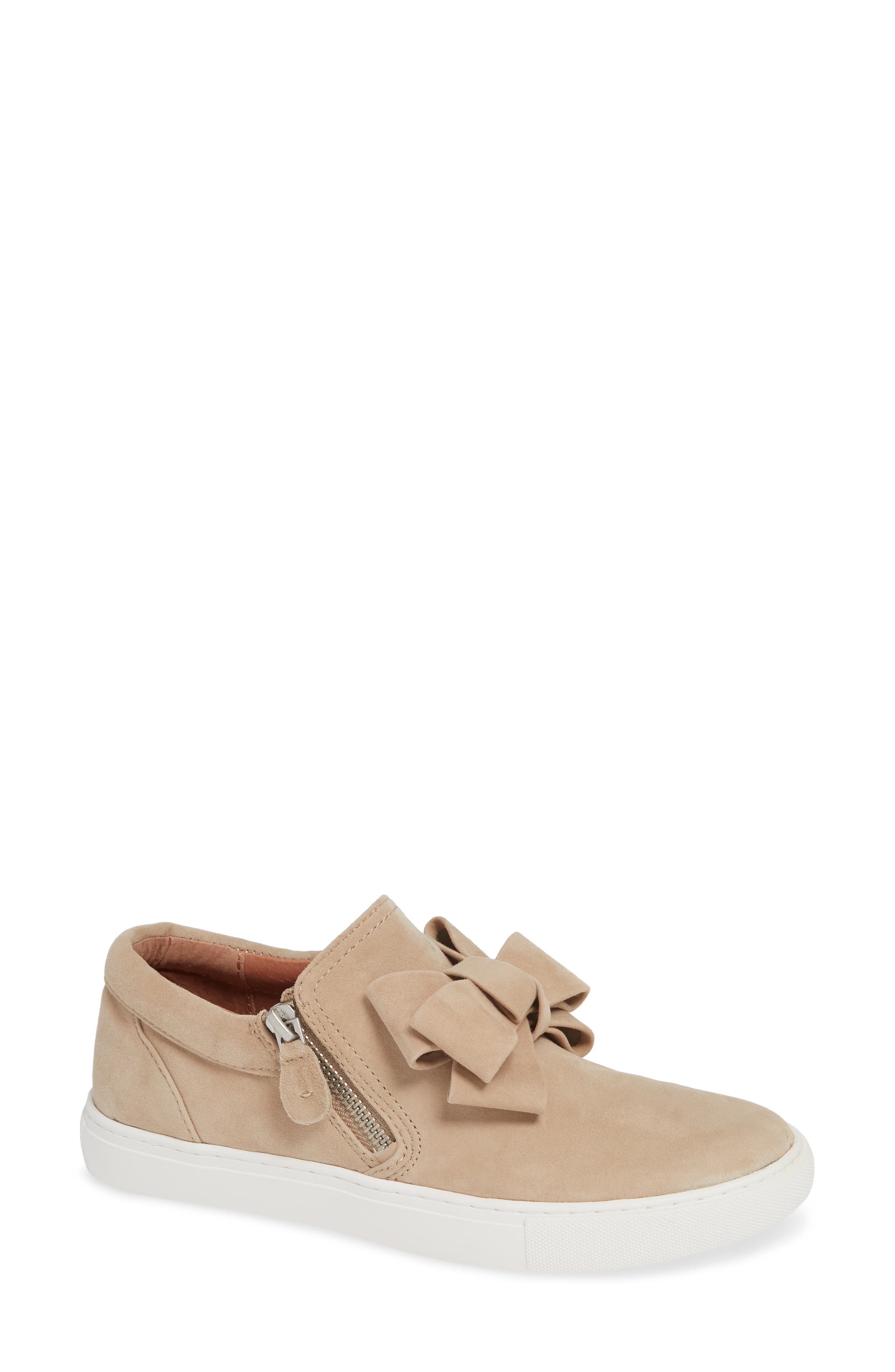 GENTLE SOULS BY KENNETH COLE, Lowe Bow Sneaker, Main thumbnail 1, color, CAFE SUEDE
