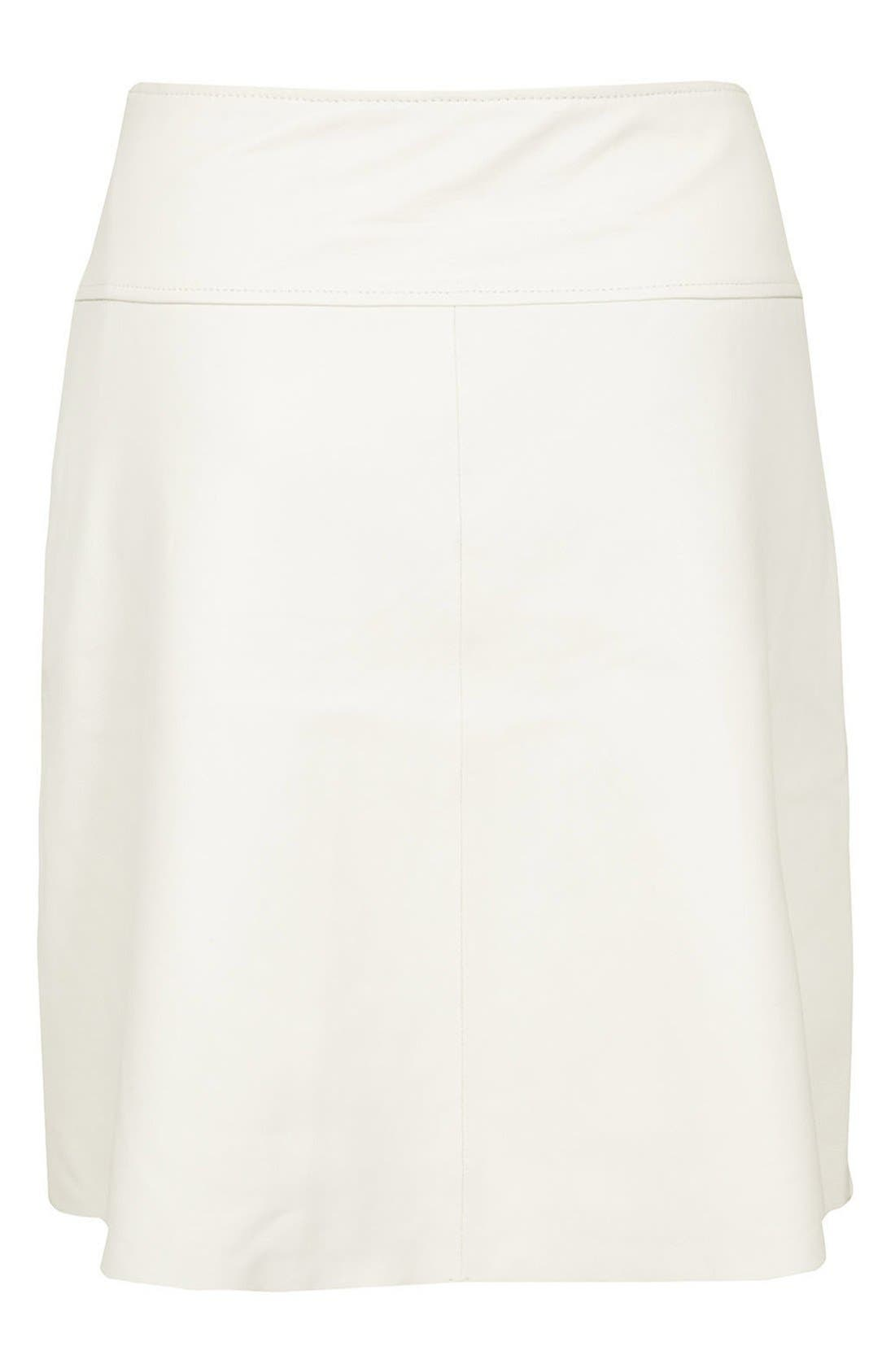 TOPSHOP, 'The Collection Starring Kate Bosworth' Leather Skirt, Alternate thumbnail 2, color, 100