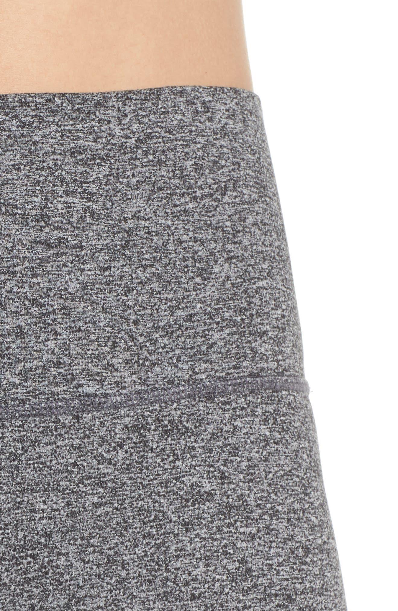 ZELLA, Ultrasoft Recycled High Waist Leggings, Alternate thumbnail 5, color, BLACK