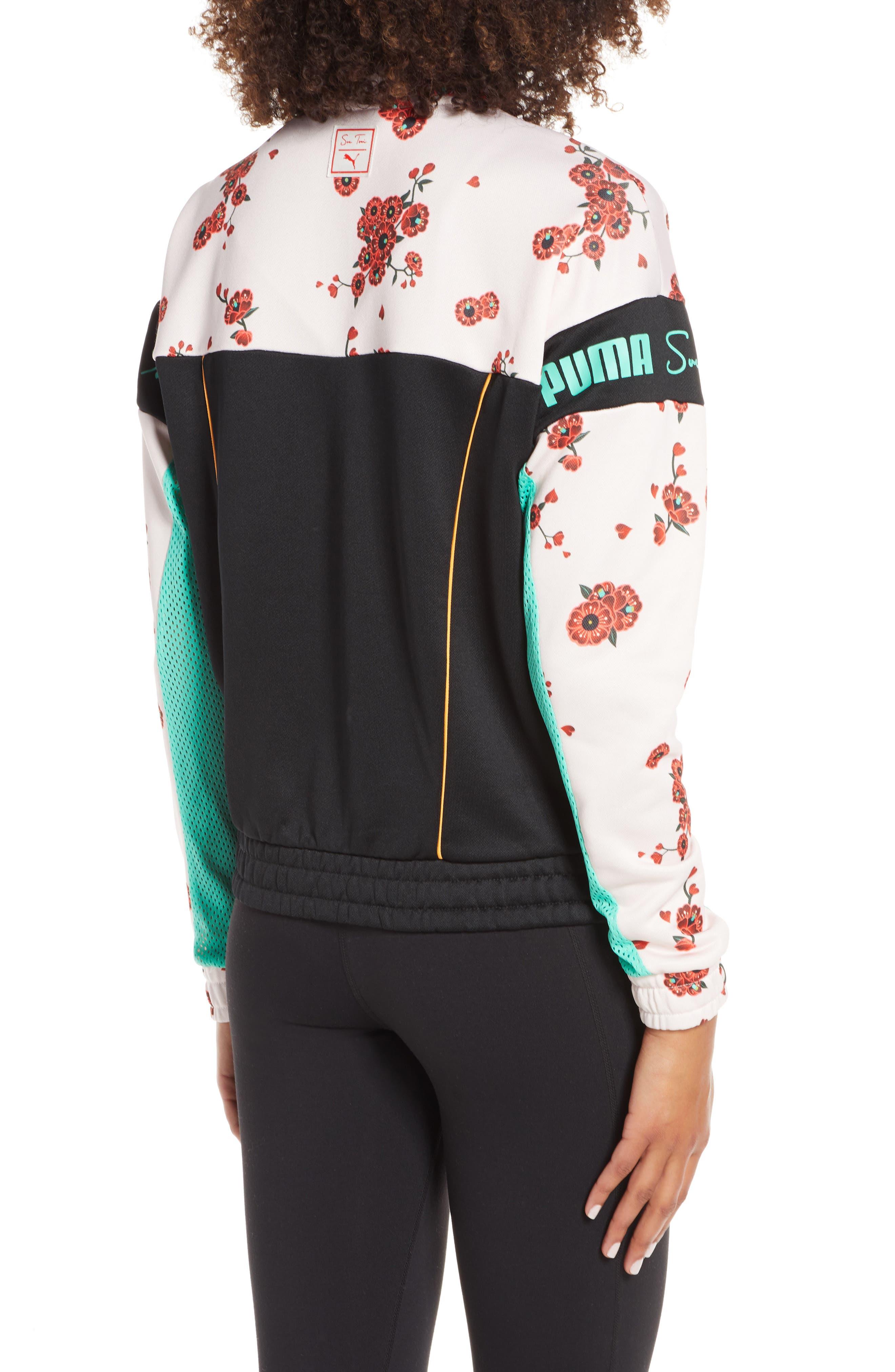 PUMA, x Sue Tsai XTG Floral Track Jacket, Alternate thumbnail 2, color, 300