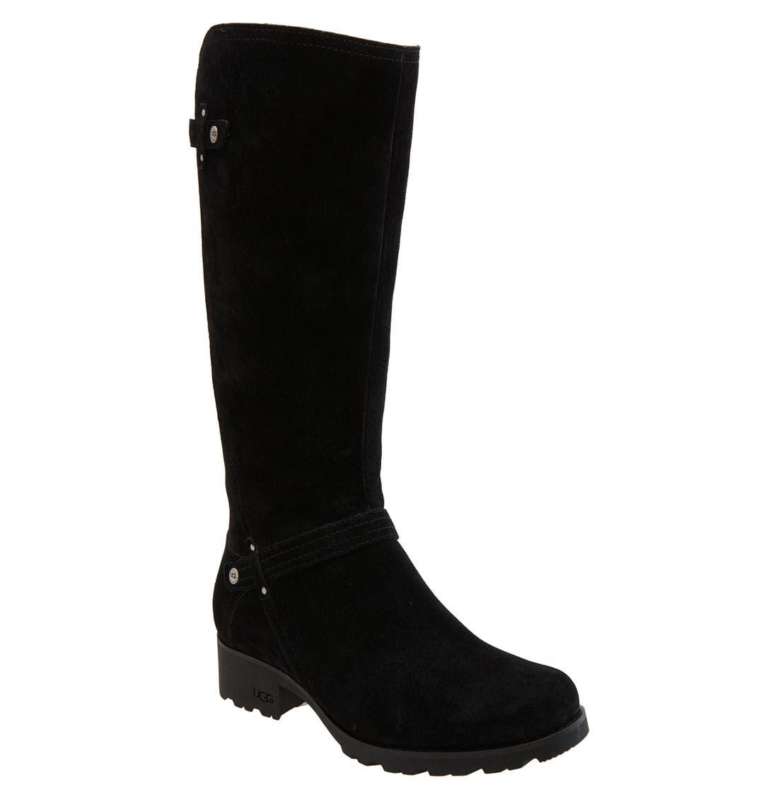 UGG<SUP>®</SUP> Australia 'Jillian' Riding Boot, Main, color, 001