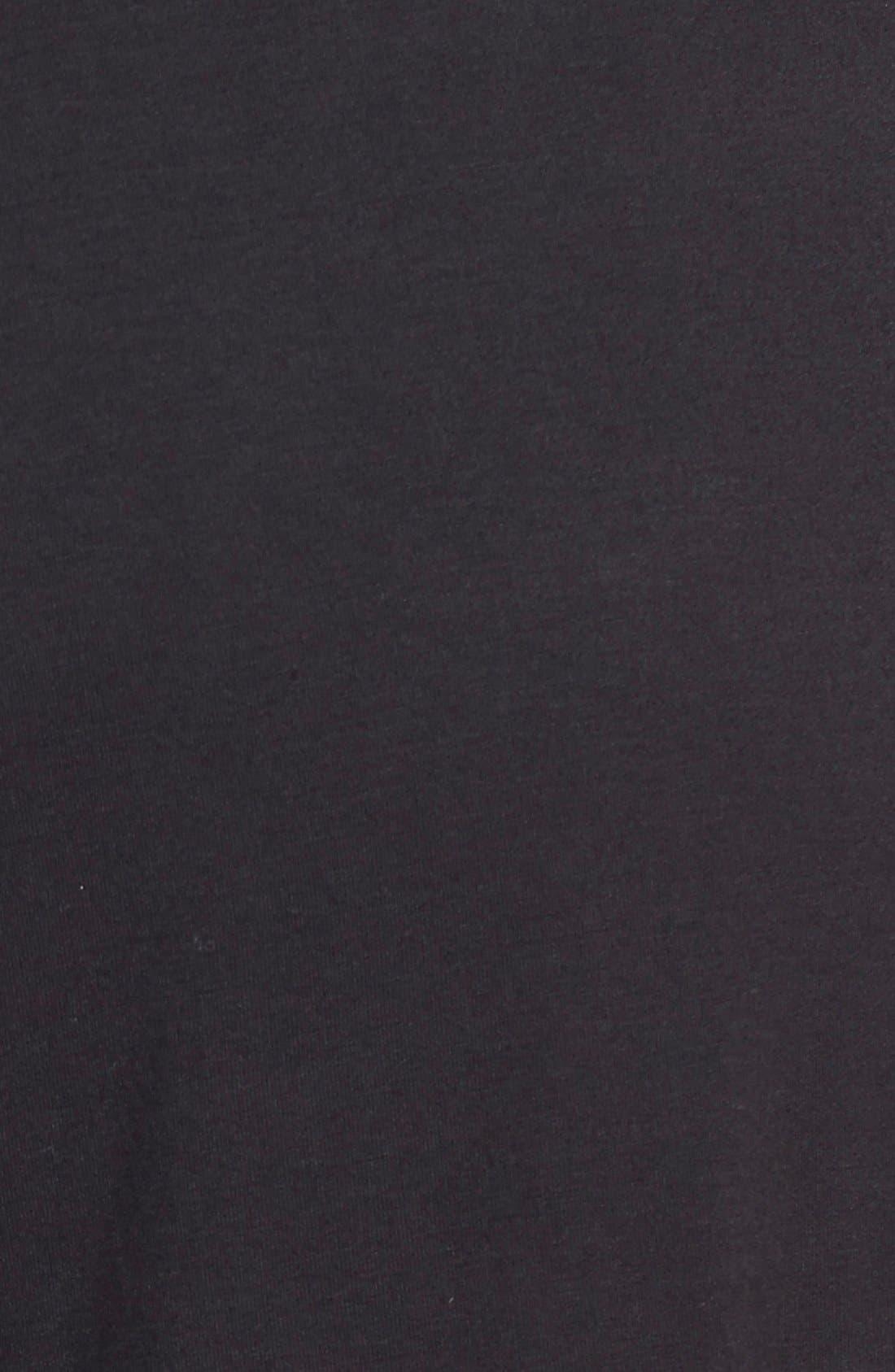 SEJOUR, Knit Palazzo Pants, Alternate thumbnail 3, color, 001