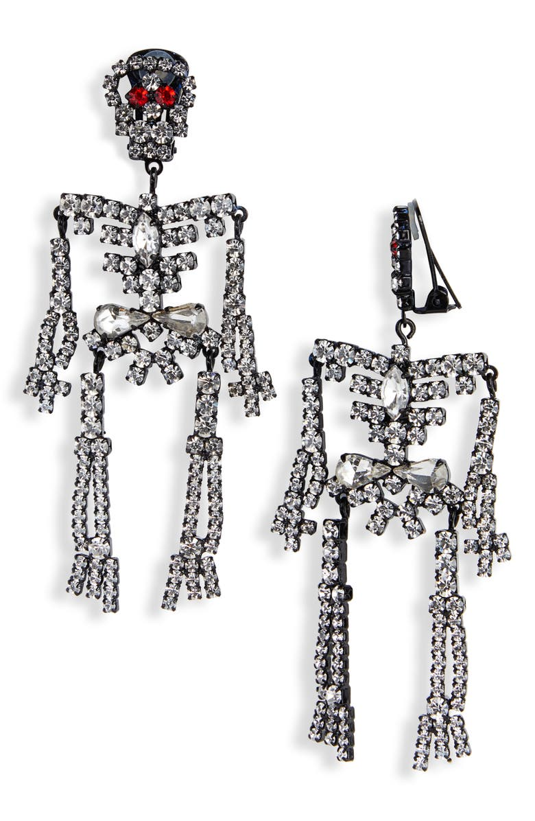 Ashley Williams Accessories SKELETON CLIP ON EARRINGS