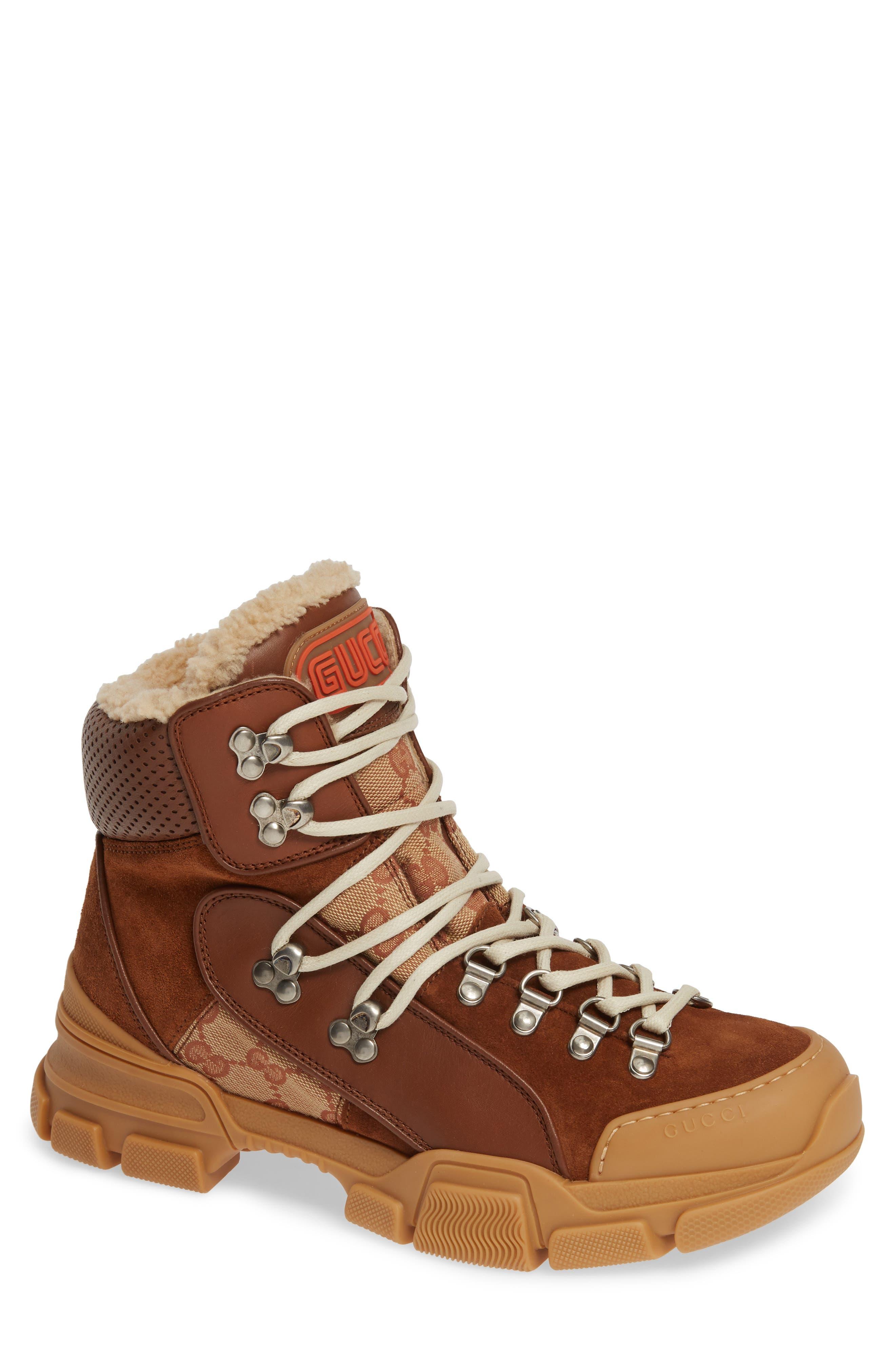 8bd3c69f51baa Gucci Flashtrek Genuine Shearling Boot
