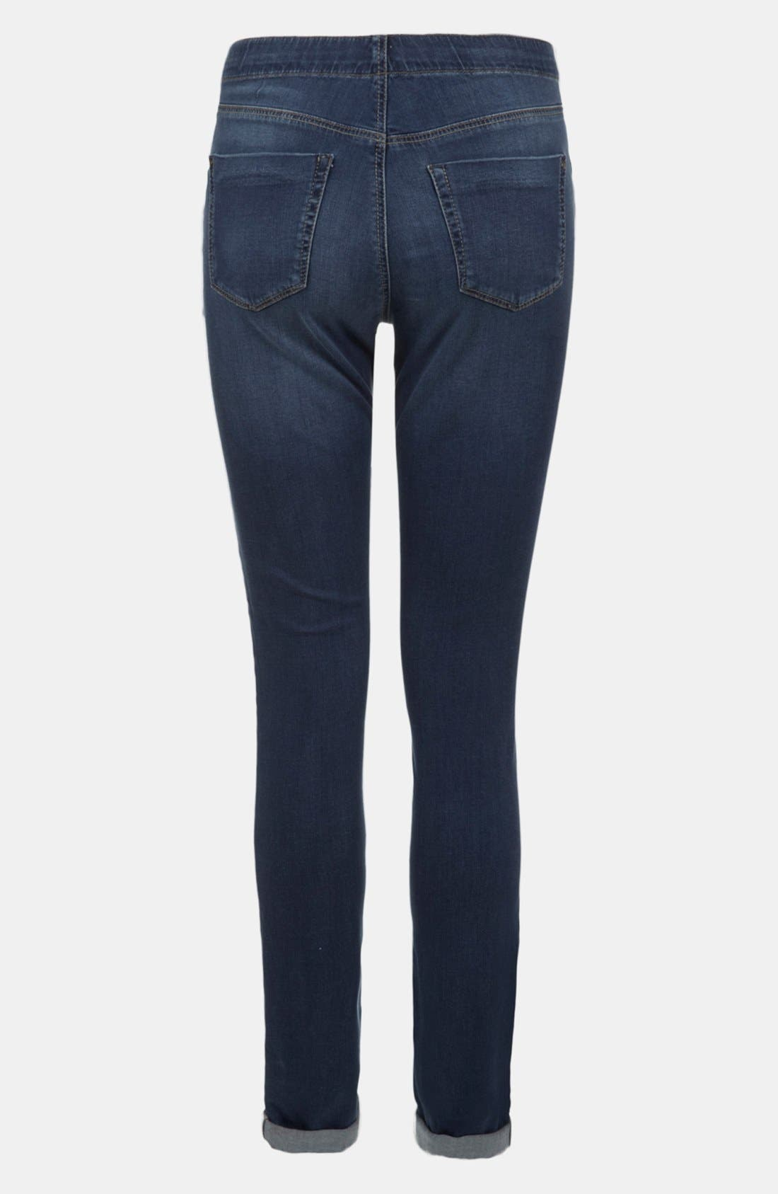TOPSHOP, 'Leigh' Maternity Jeans, Alternate thumbnail 2, color, 420