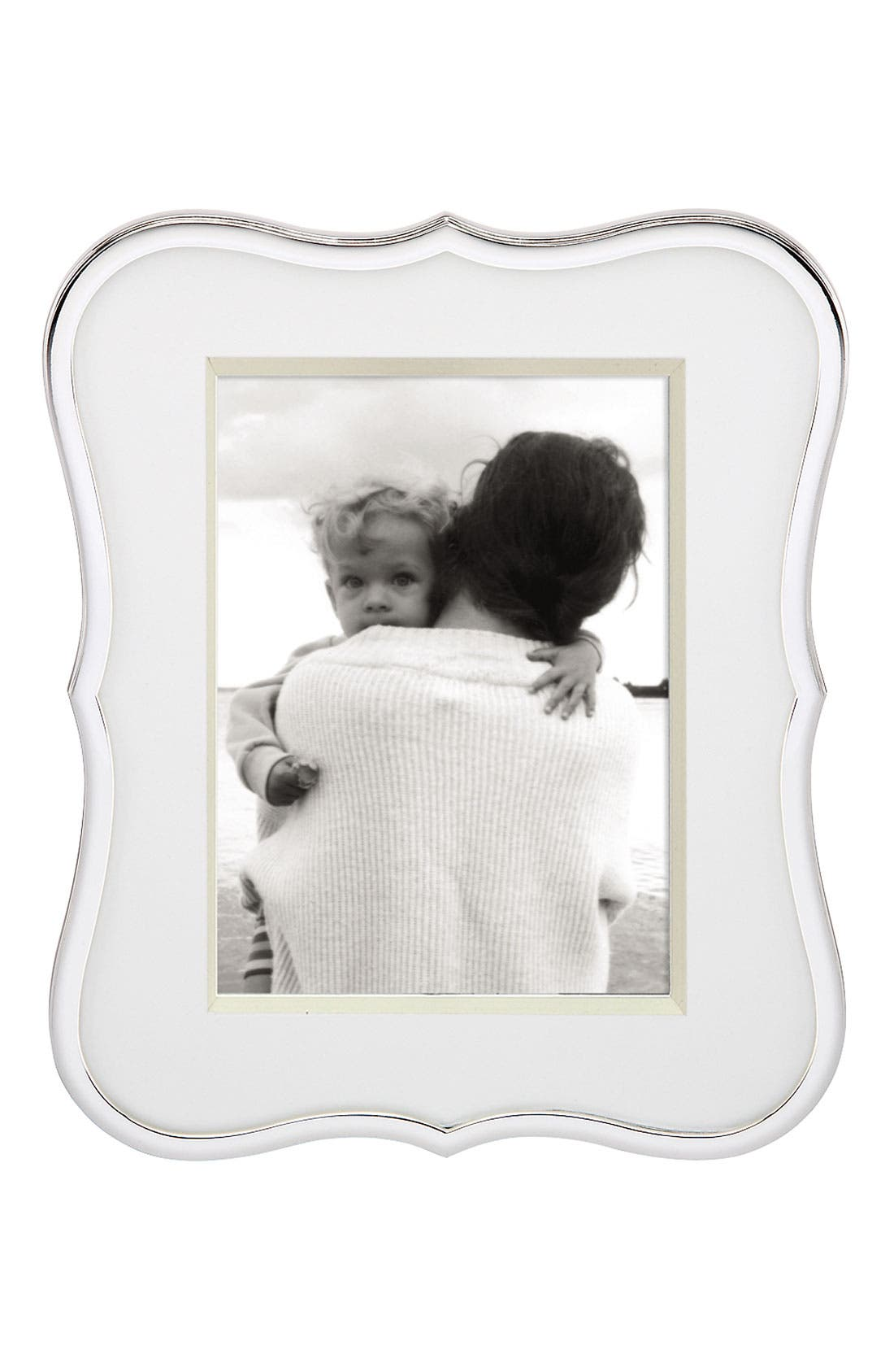 KATE SPADE NEW YORK, crown point picture frame, Alternate thumbnail 3, color, NO COLOR