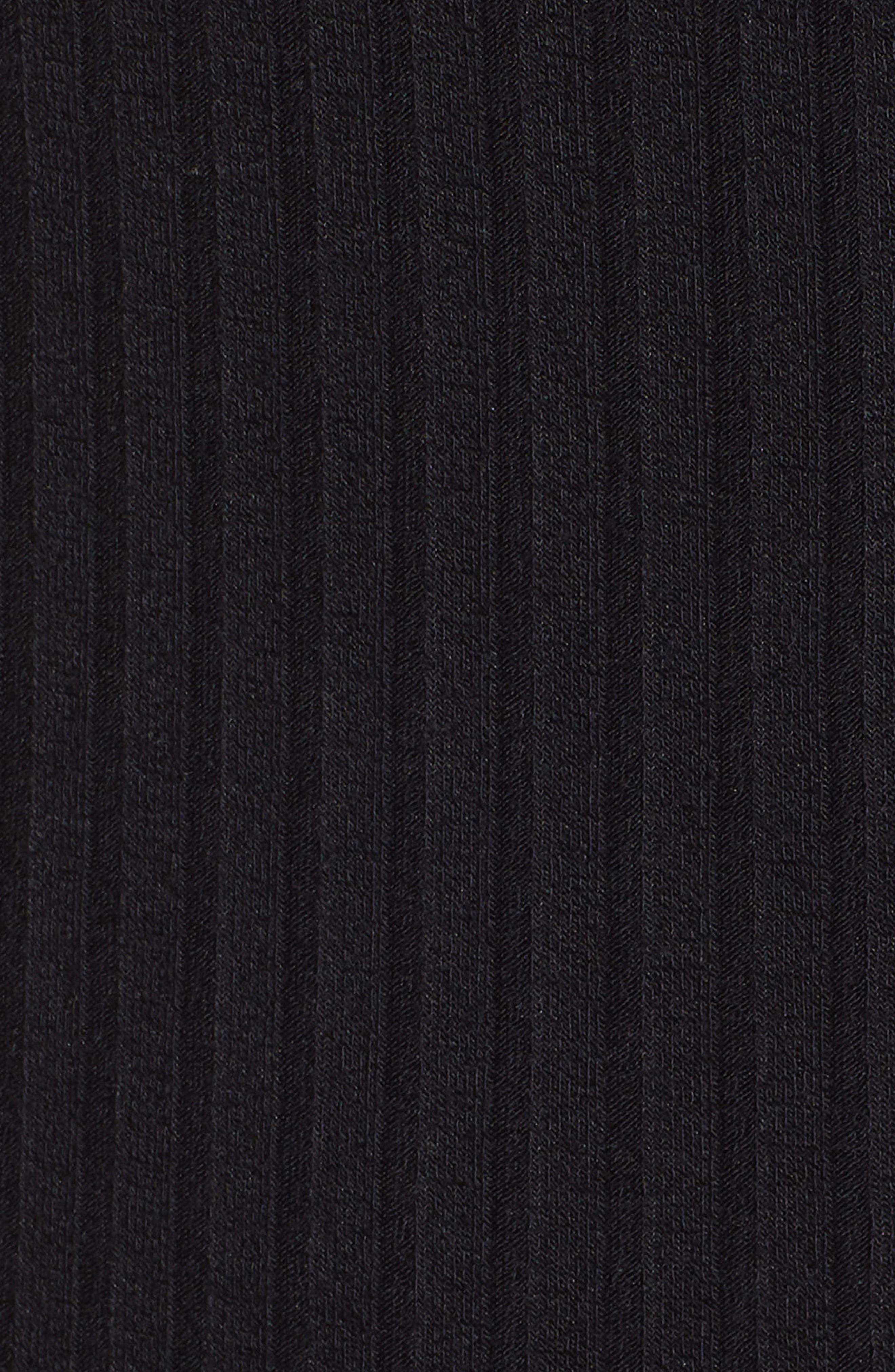 BP., Button Front Dress, Alternate thumbnail 6, color, BLACK