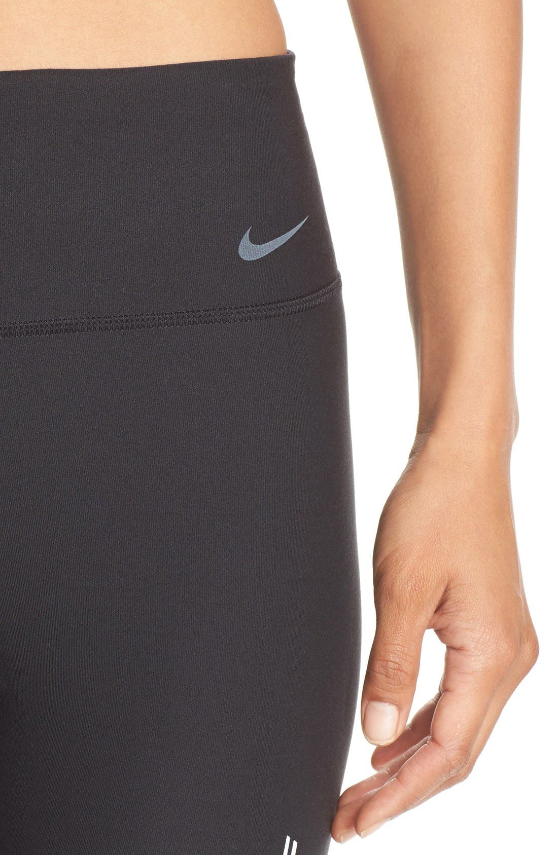 NIKE, Power Legendary Graphic Tights, Alternate thumbnail 4, color, 010