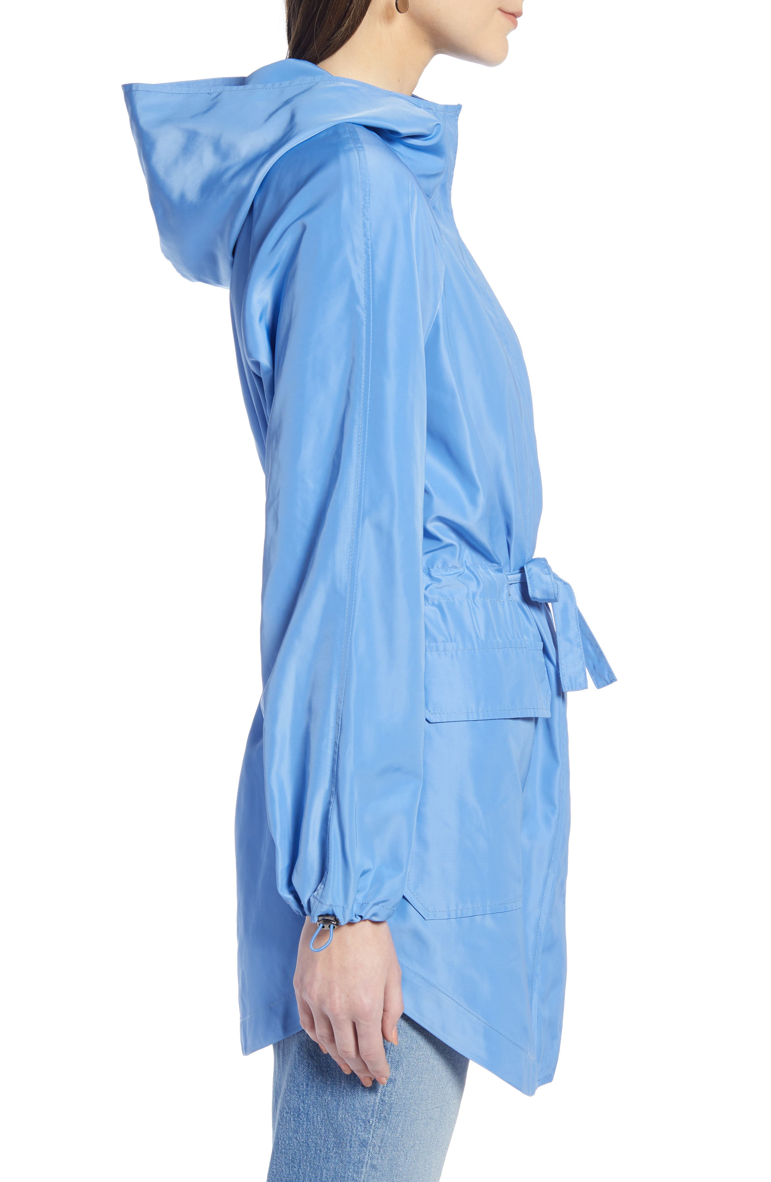 SOMETHING NAVY, Belted Parka, Alternate thumbnail 5, color, PERI