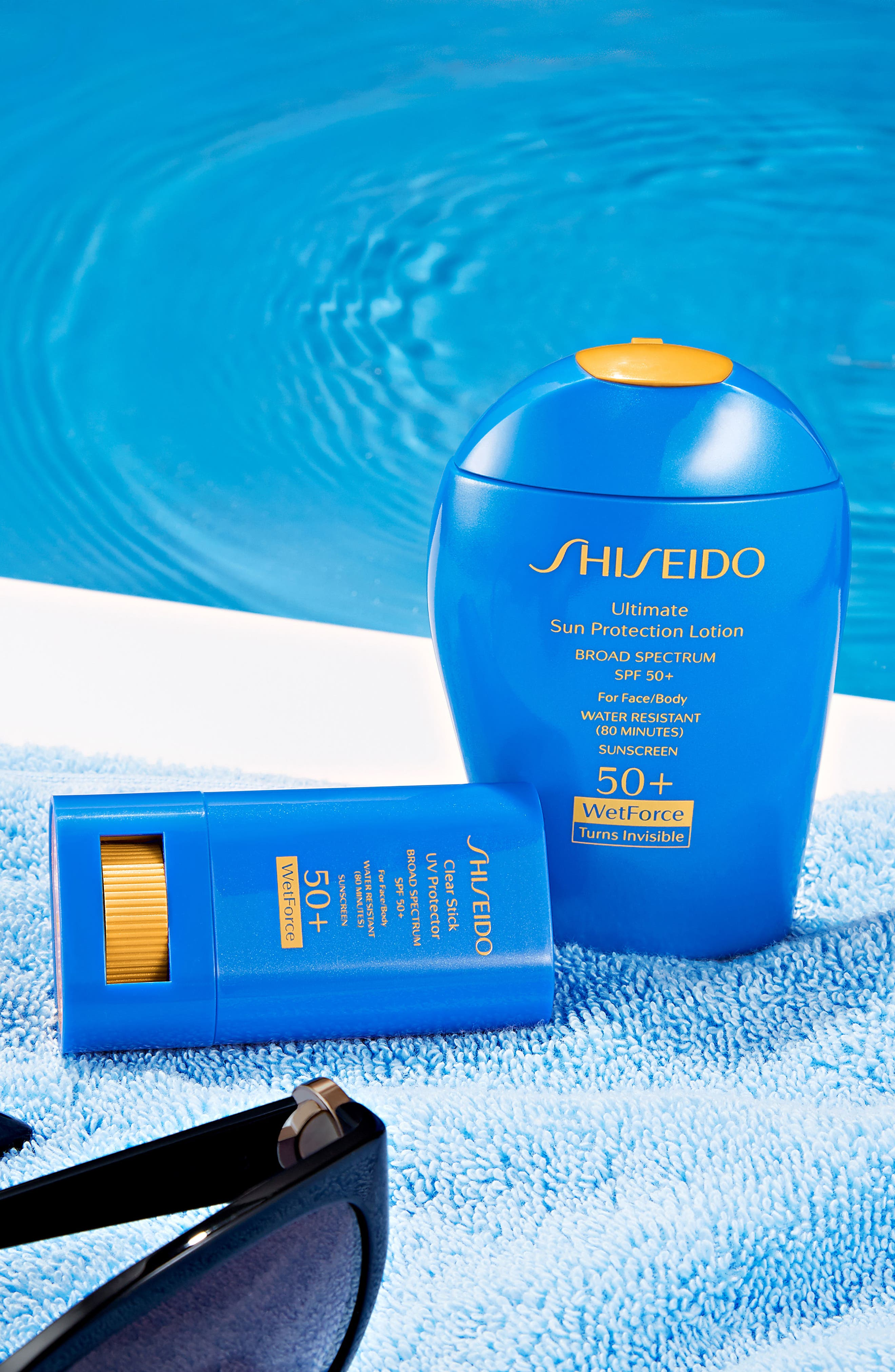 SHISEIDO, WetForce Ultimate Sun Protection Lotion Broad Spectrum SPF 50+, Alternate thumbnail 3, color, NO COLOR