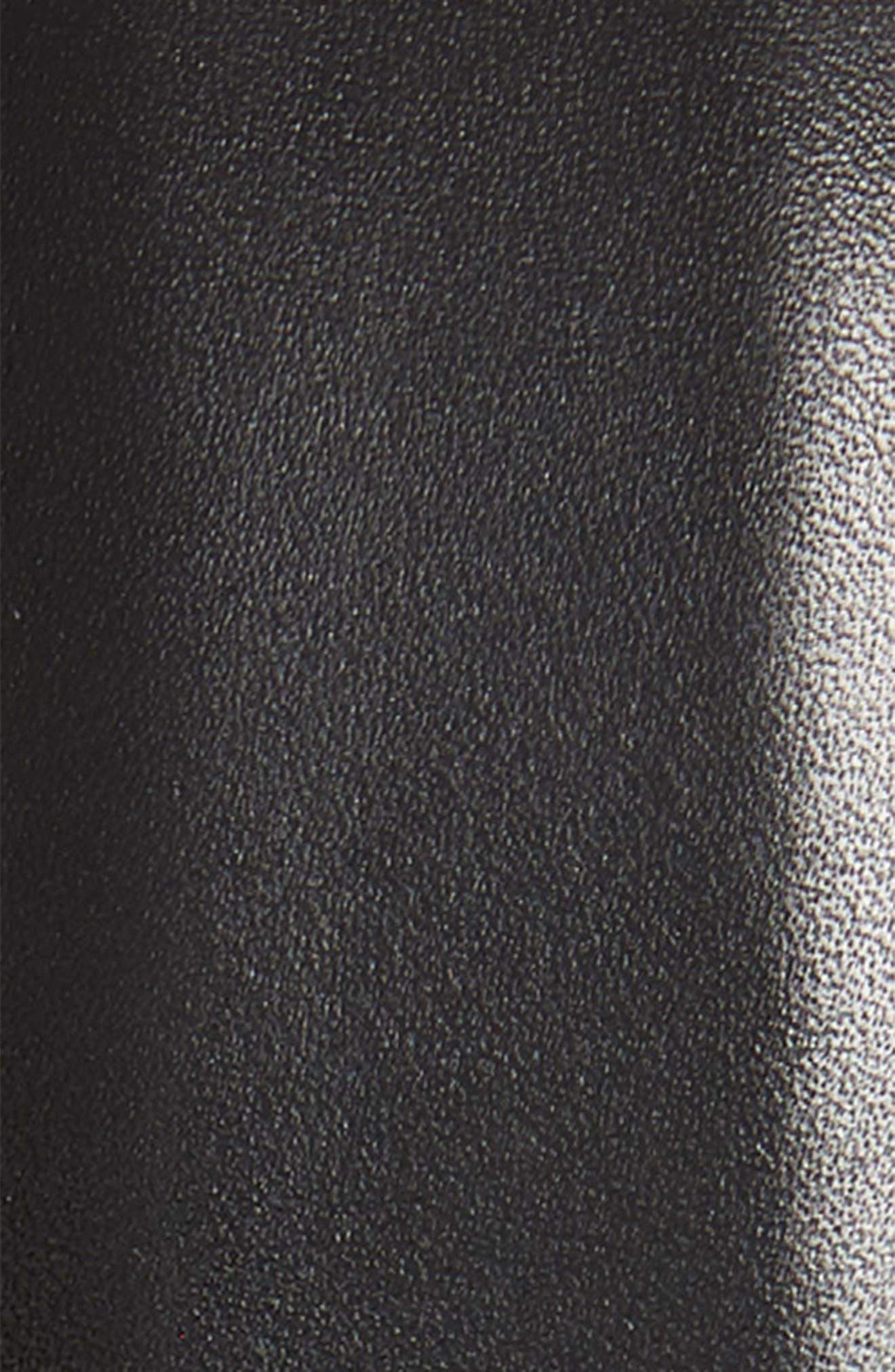 MAGNANNI, Carbon Leather Belt, Alternate thumbnail 2, color, BLACK