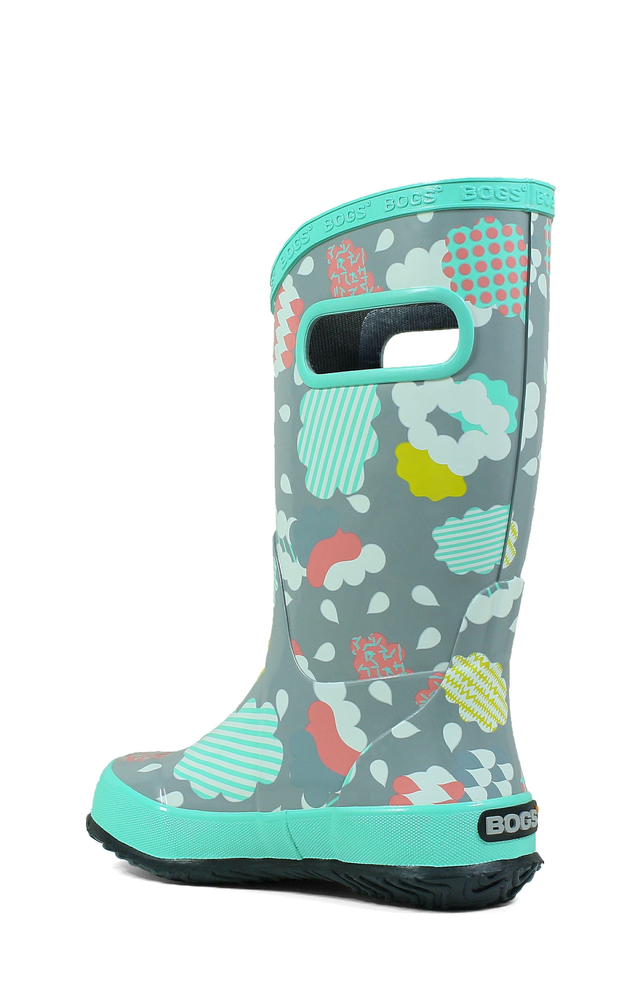 BOGS, Clouds Waterproof Rain Boot, Alternate thumbnail 2, color, 062