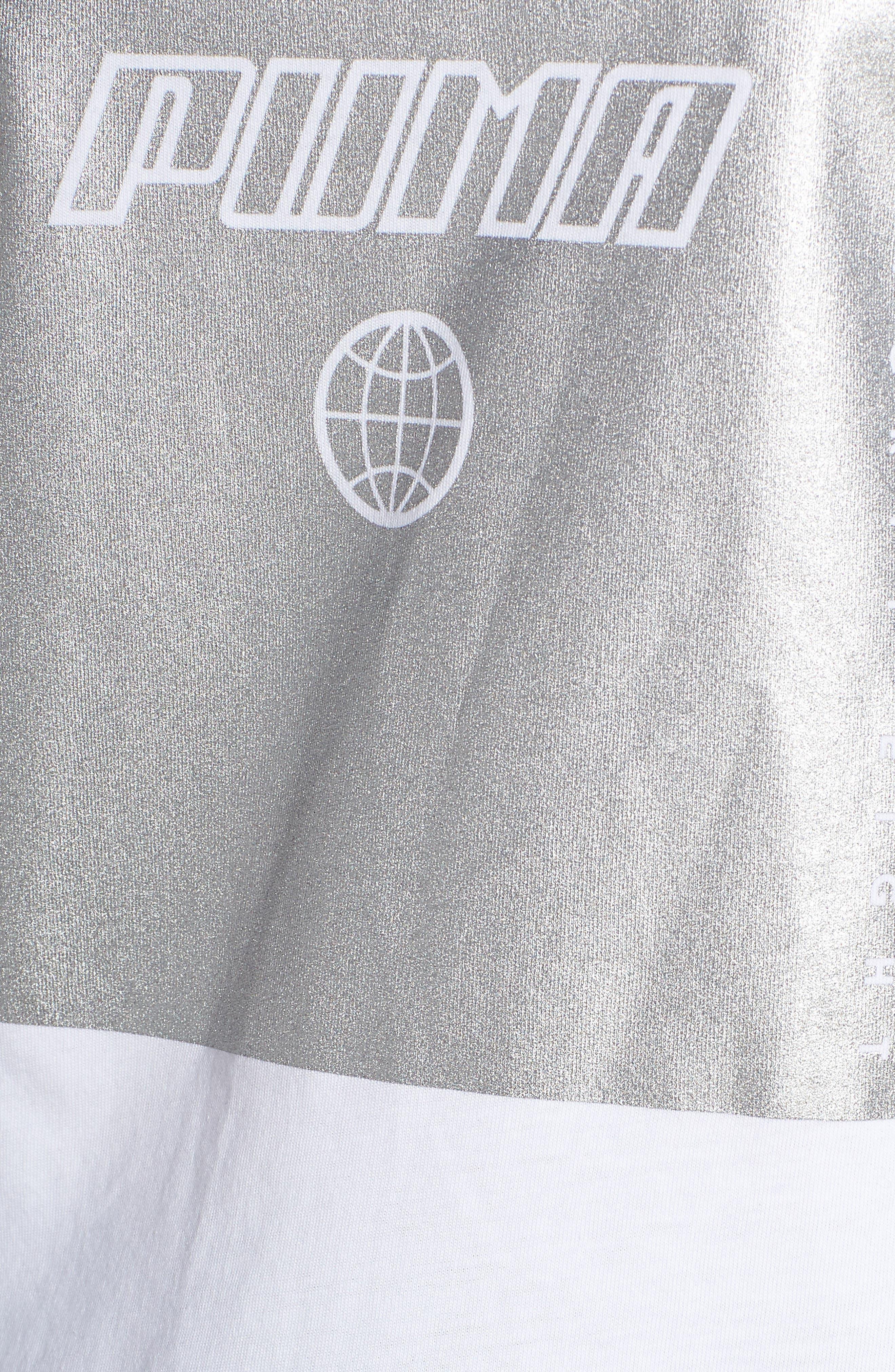 PUMA, TZ Logo Tee, Alternate thumbnail 6, color, PUMA WHITE