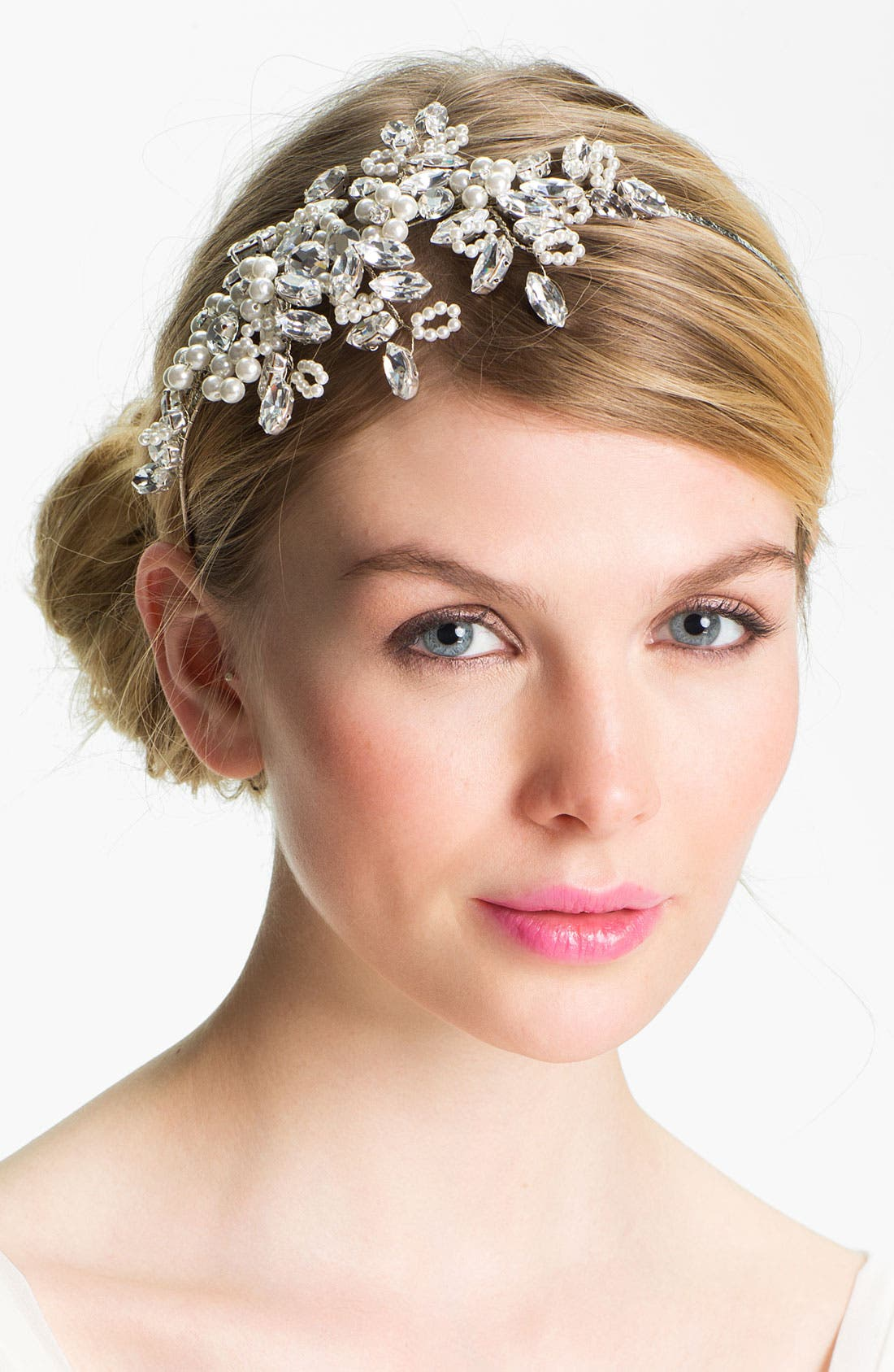 HALO & CO Crystal Branches Headband, Main, color, 040