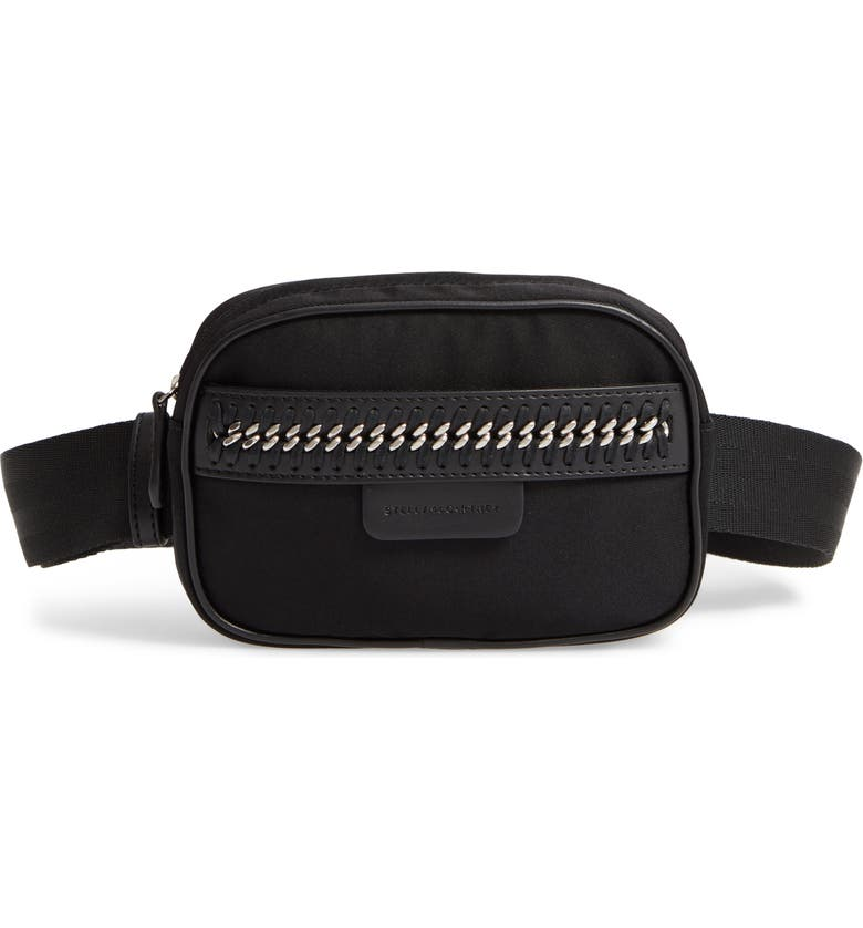 950af783092b2b STELLA MCCARTNEY Nylon Convertible Belt Bag, Main, color, BLACK/ SILVER