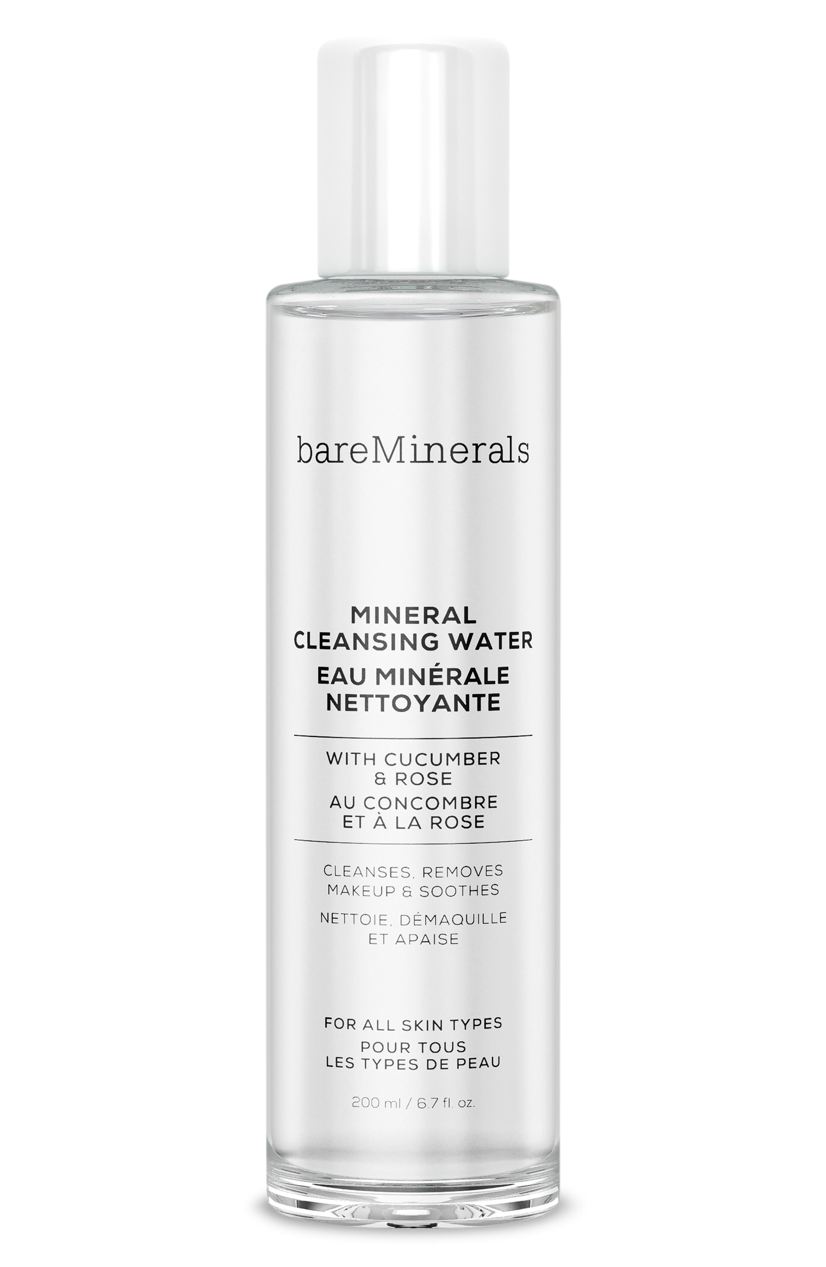 BAREMINERALS<SUP>®</SUP>, Mineral Cleansing Water, Main thumbnail 1, color, NO COLOR