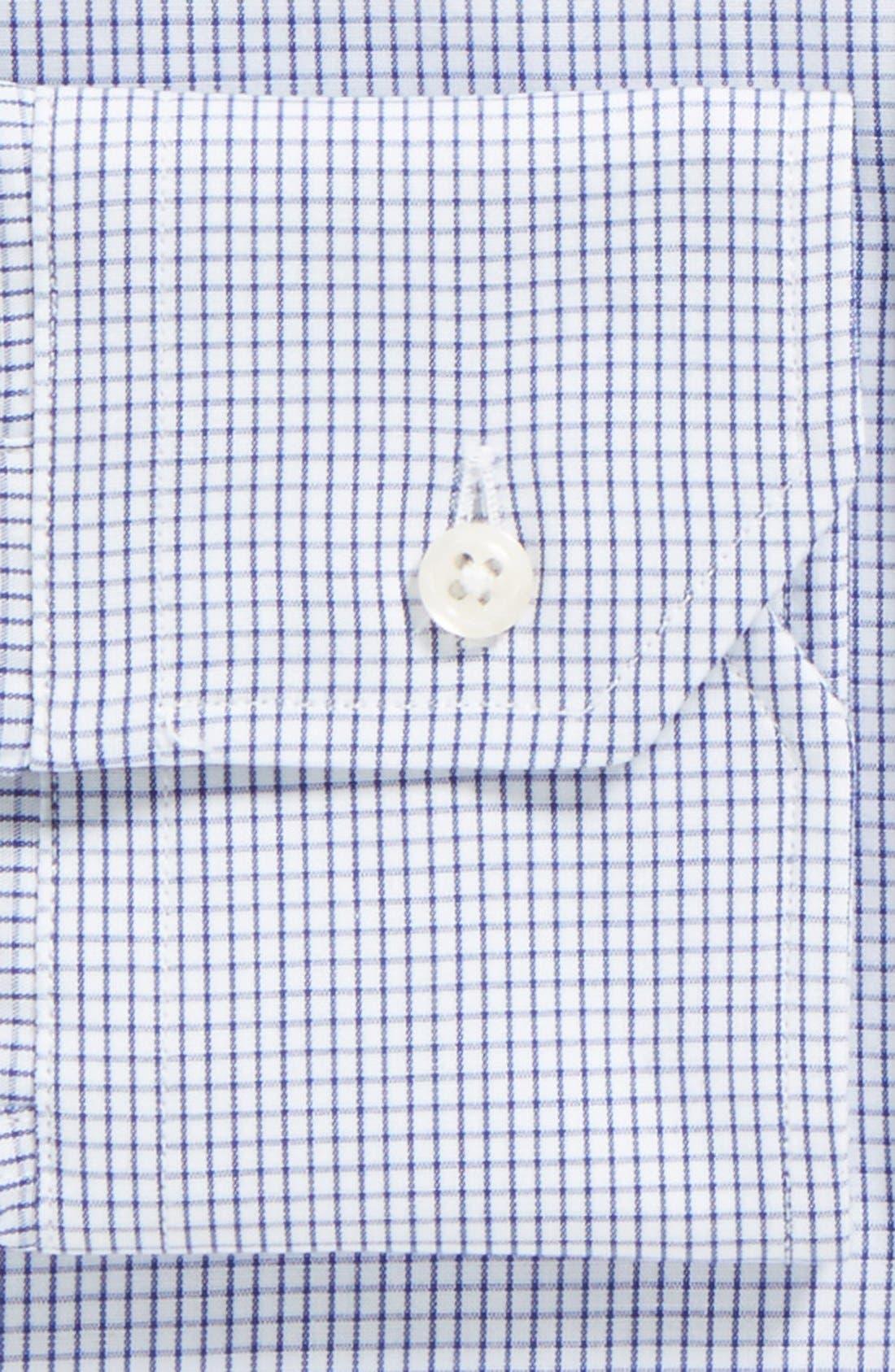 GITMAN, Tailored Fit Gingham Dress Shirt, Alternate thumbnail 2, color, NAVY