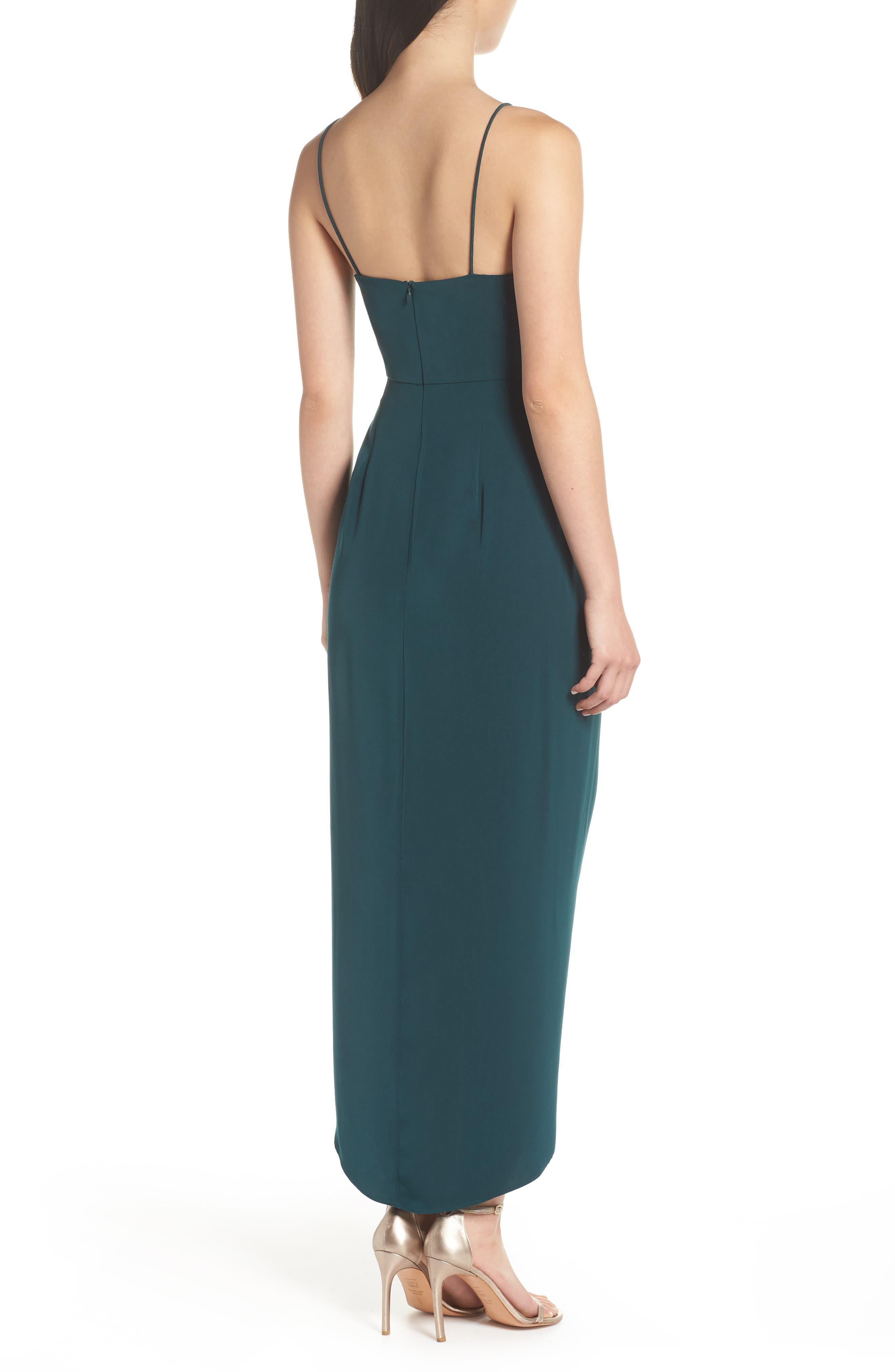 SHONA JOY, Tulip Hem Maxi Dress, Alternate thumbnail 2, color, SEAWEED