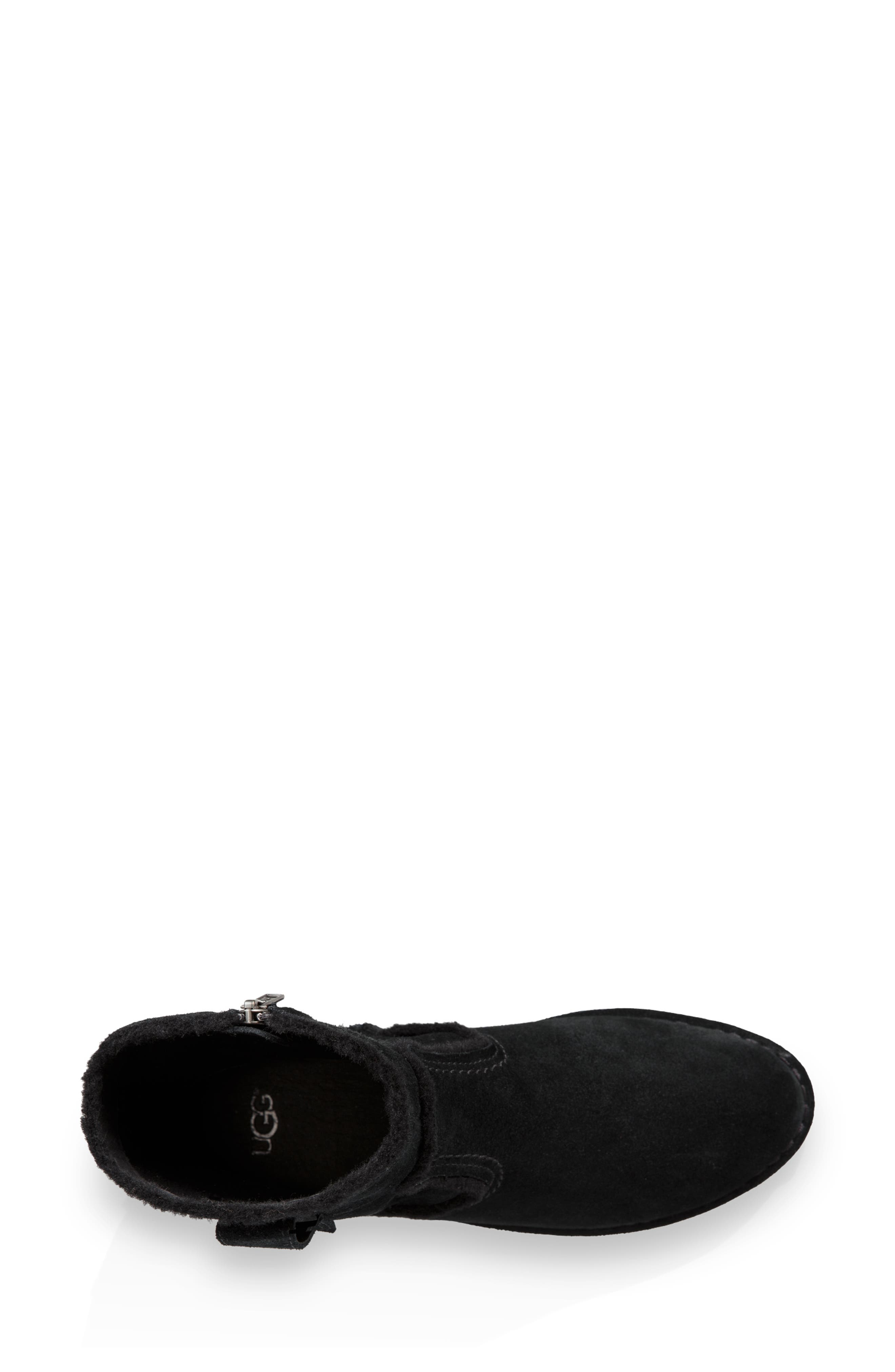 UGG<SUP>®</SUP>, Catica Boot, Alternate thumbnail 4, color, BLACK SUEDE